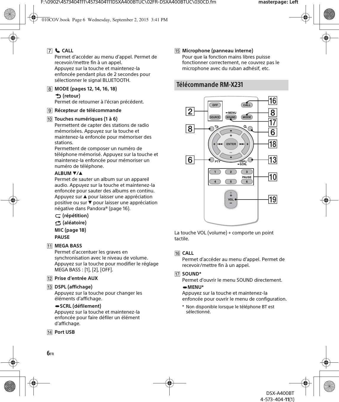Sony Dsxa400bt Fm Am Digital Media Player User Manual Dsx A400bt Omg Wiring  Diagram Sony Dsx A400bt Wiring Diagram
