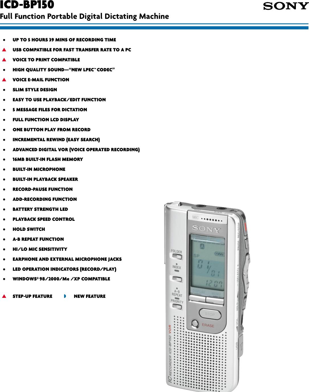 ICD-BP150 DRIVERS WINDOWS 7