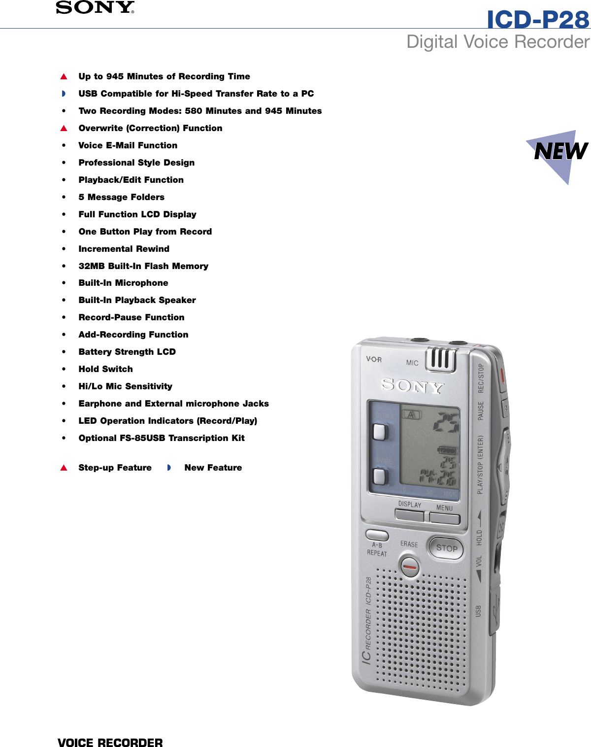 SONY IC RECORDER ICD-P28 DRIVERS FOR WINDOWS 8