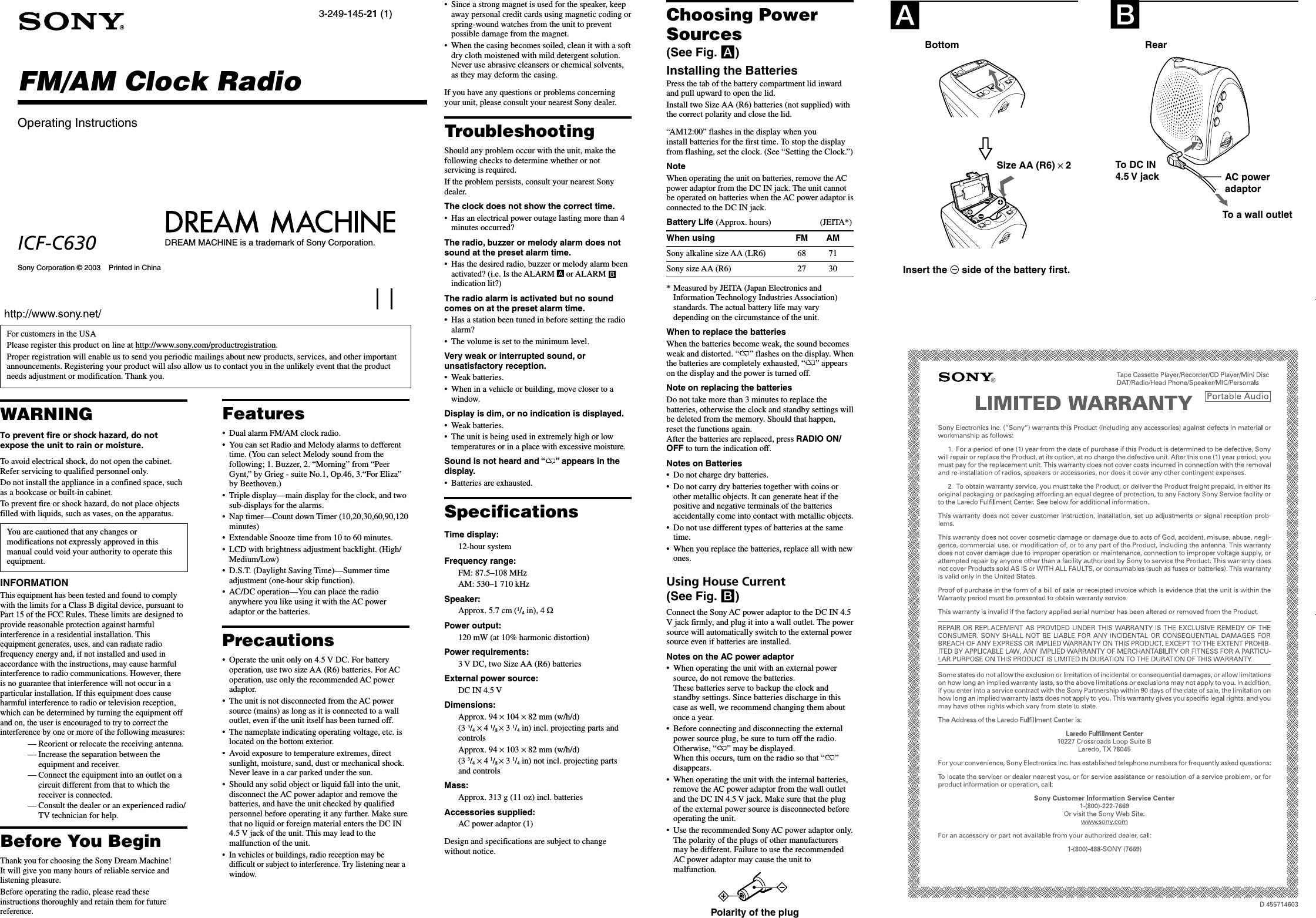 Alternators C630 Manual Guide