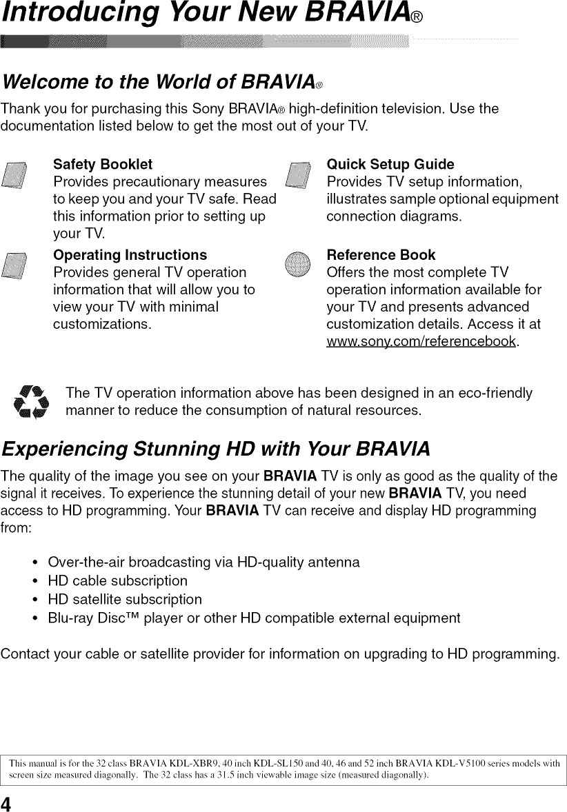 Sony KDL 32XBR9 User Manual LCD TELEVISION Manuals And