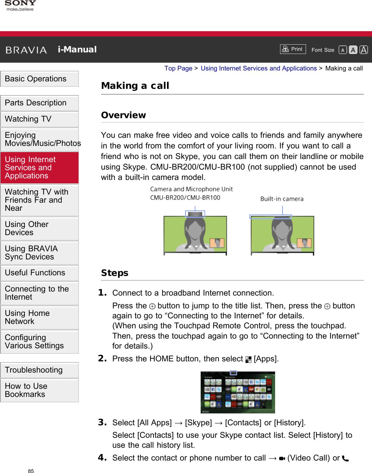 "Sony KDL 55W950B ""BRAVIA"" User Manual I Online (Printable"