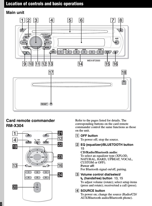 Sony bluetooth car stereo mexbt2500 12