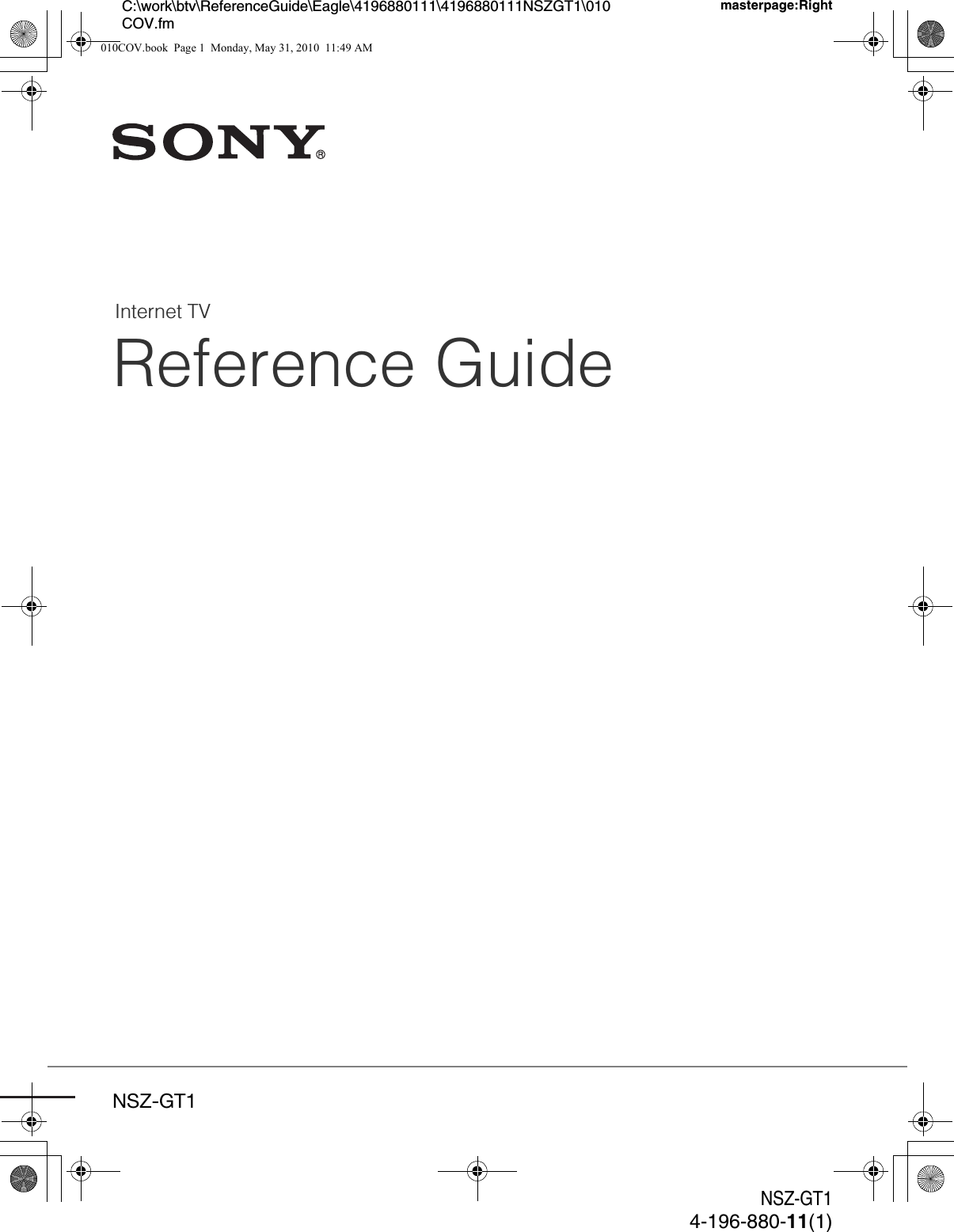 sony nszgt1 internet tv box user manual nsz gt1 reference guide rh usermanual wiki Sony Google TV Box Internet Sony Internet TV Player