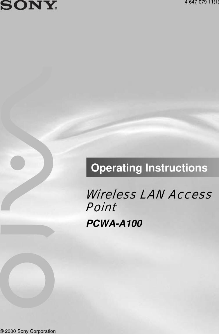 SONY PCWA-C100 WIRELESS TELECHARGER PILOTE