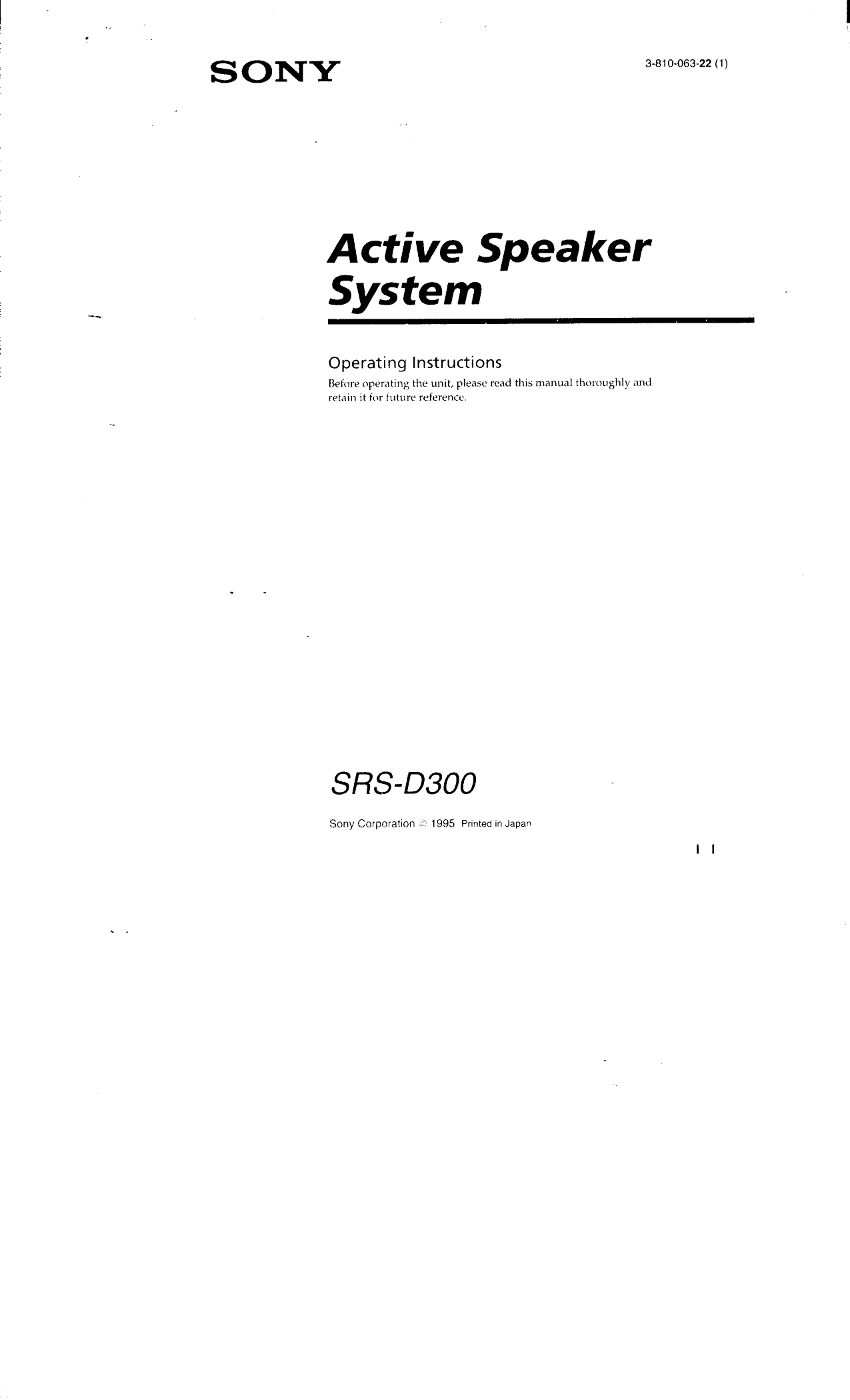 sony srs d300 user manual operating instructions srsd300 rh usermanual wiki datakom d300 user manual nikon d300 user manual english