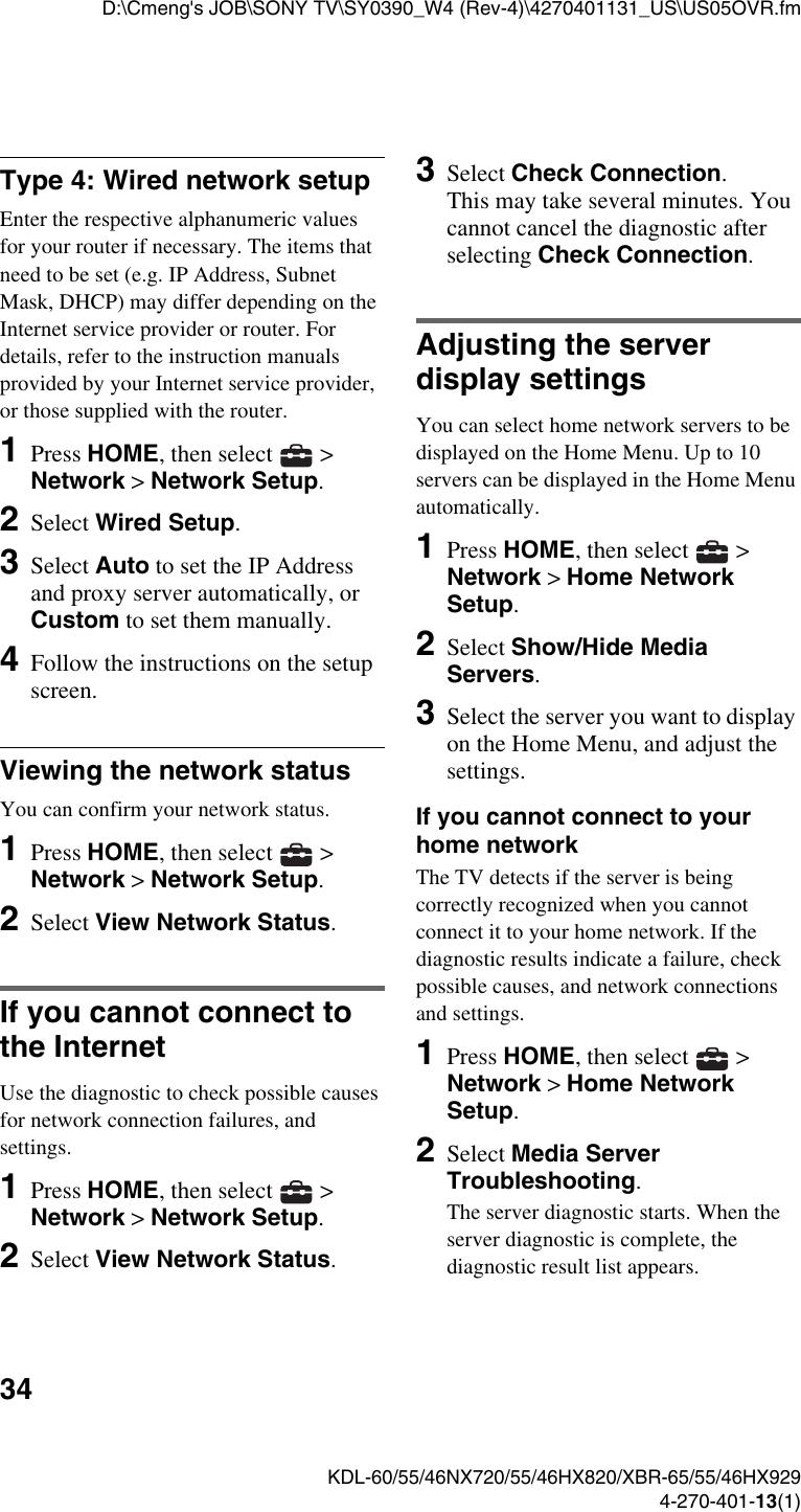 Sony 46Hx820 Users Manual KDL 60/55/46NX720/55/46HX820/XBR