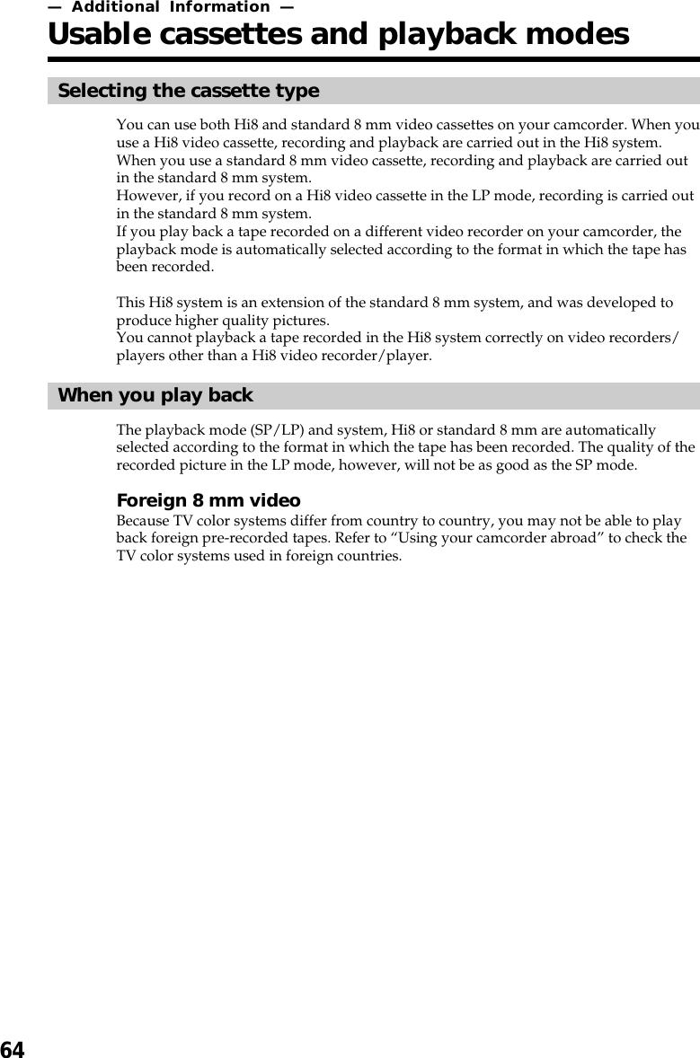 Sony Ccd Trv98 Users Manual TRV49/TRV58/TRV68/TRV78/TRV88/TRV98