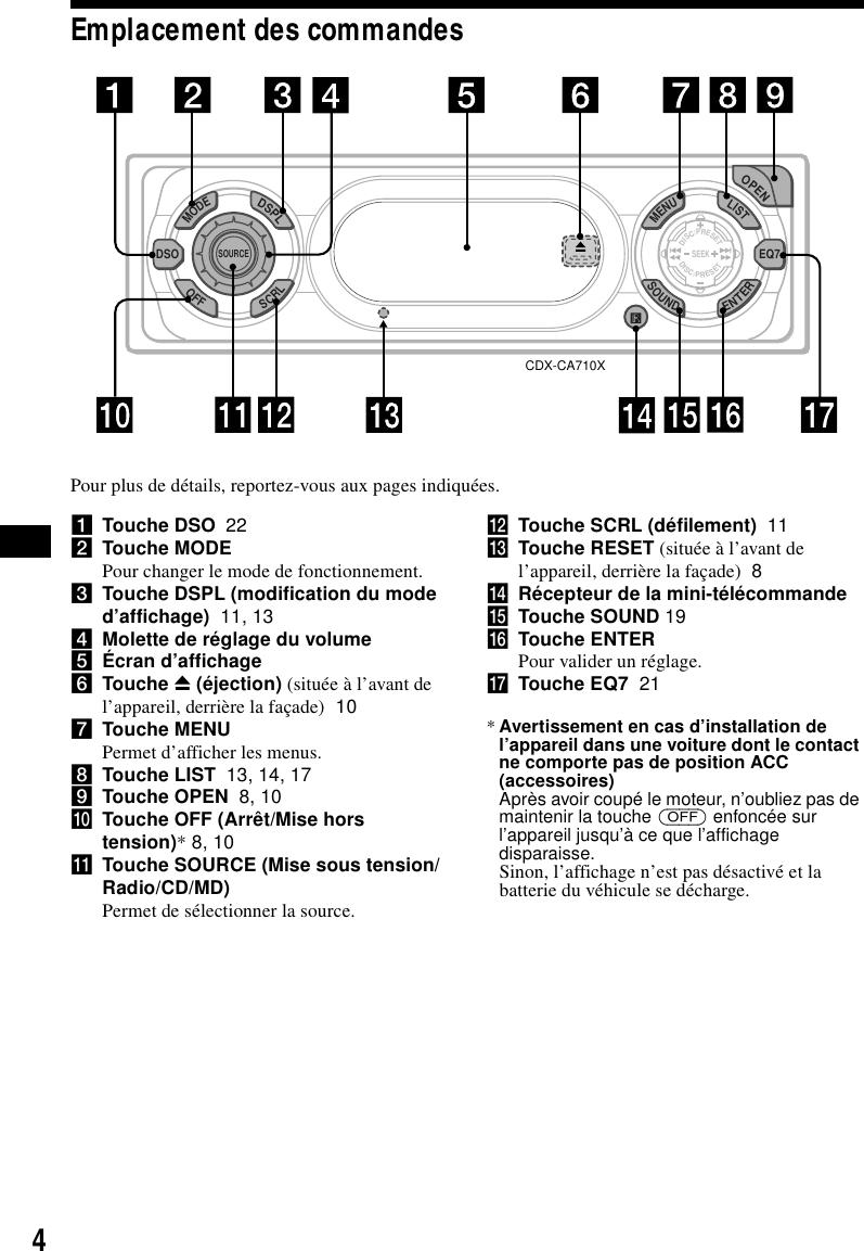 Sony Cdx Ca710X Operating Instructions Eq Sony Xplod Wiring Diagram on