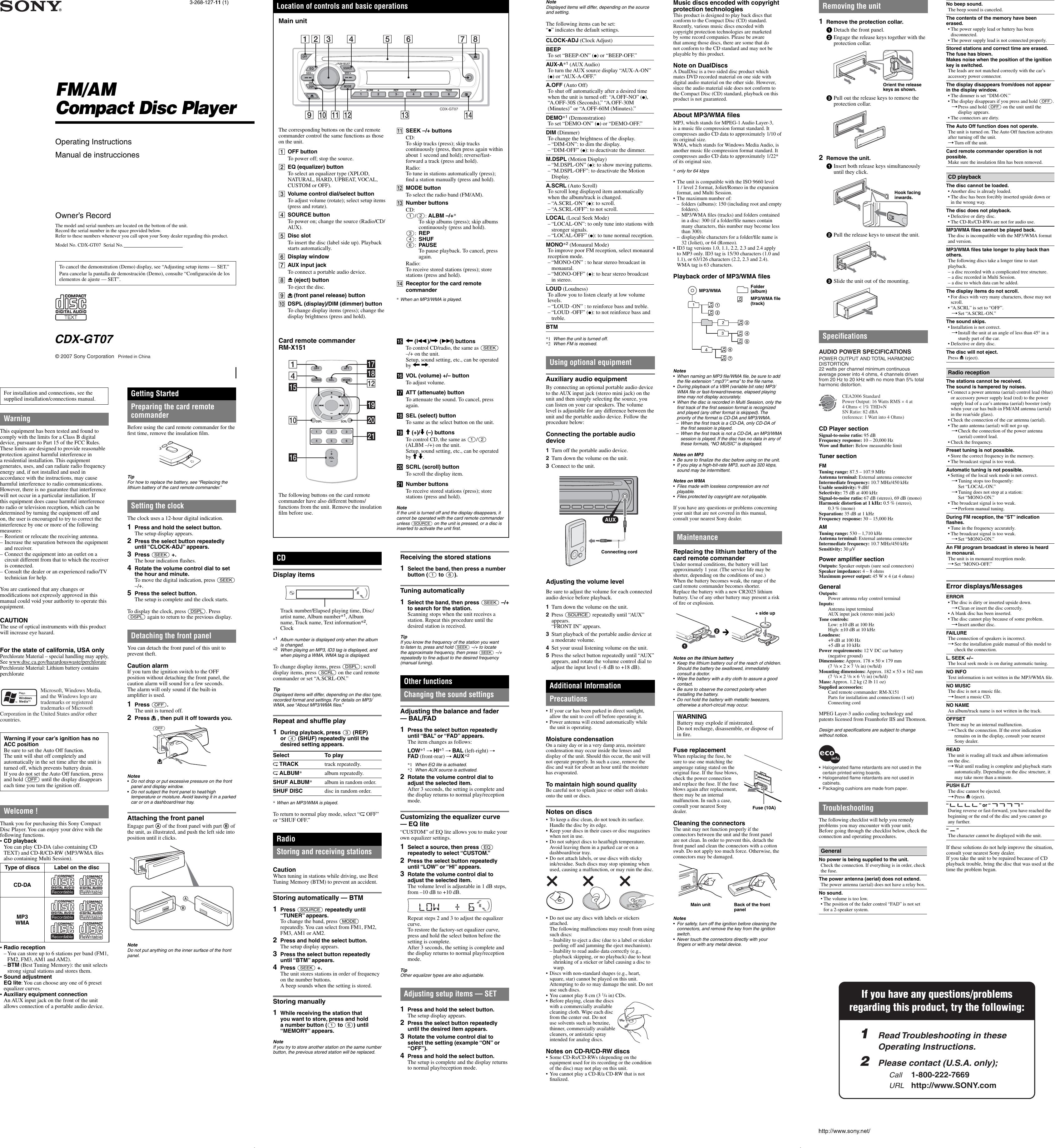 sony xplod cdx gt07 wiring diagram car wiring diagrams explained u2022 rh ethermag co