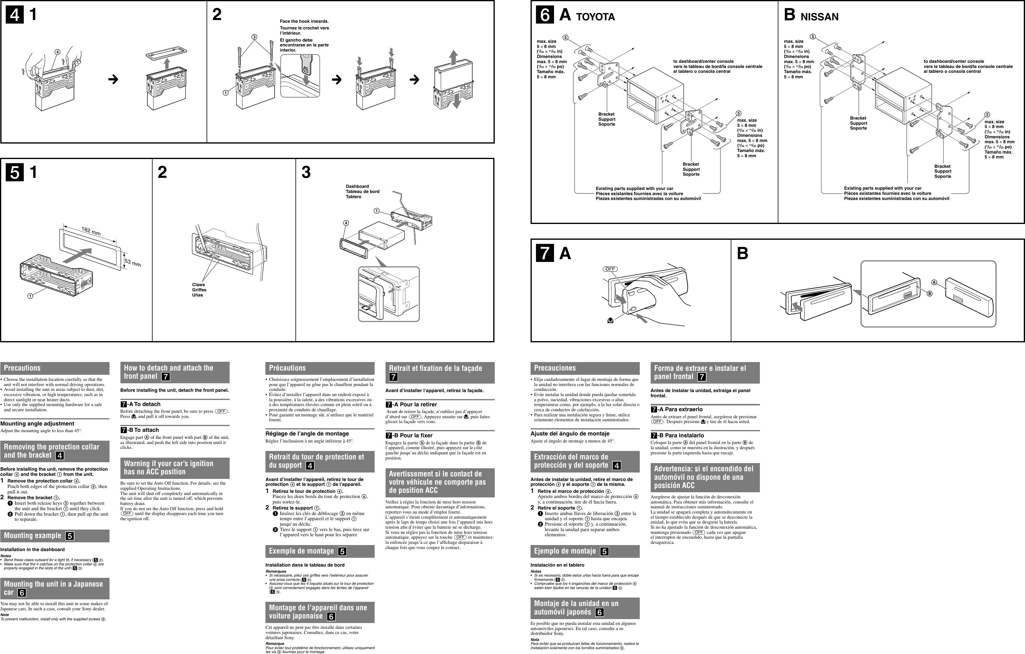 Page 2 of 2 - Sony Sony-Cdx-Gt23W-Installation-Connections-Manual- CDX-GT23W  Sony-cdx-gt23w-installation-connections-manual