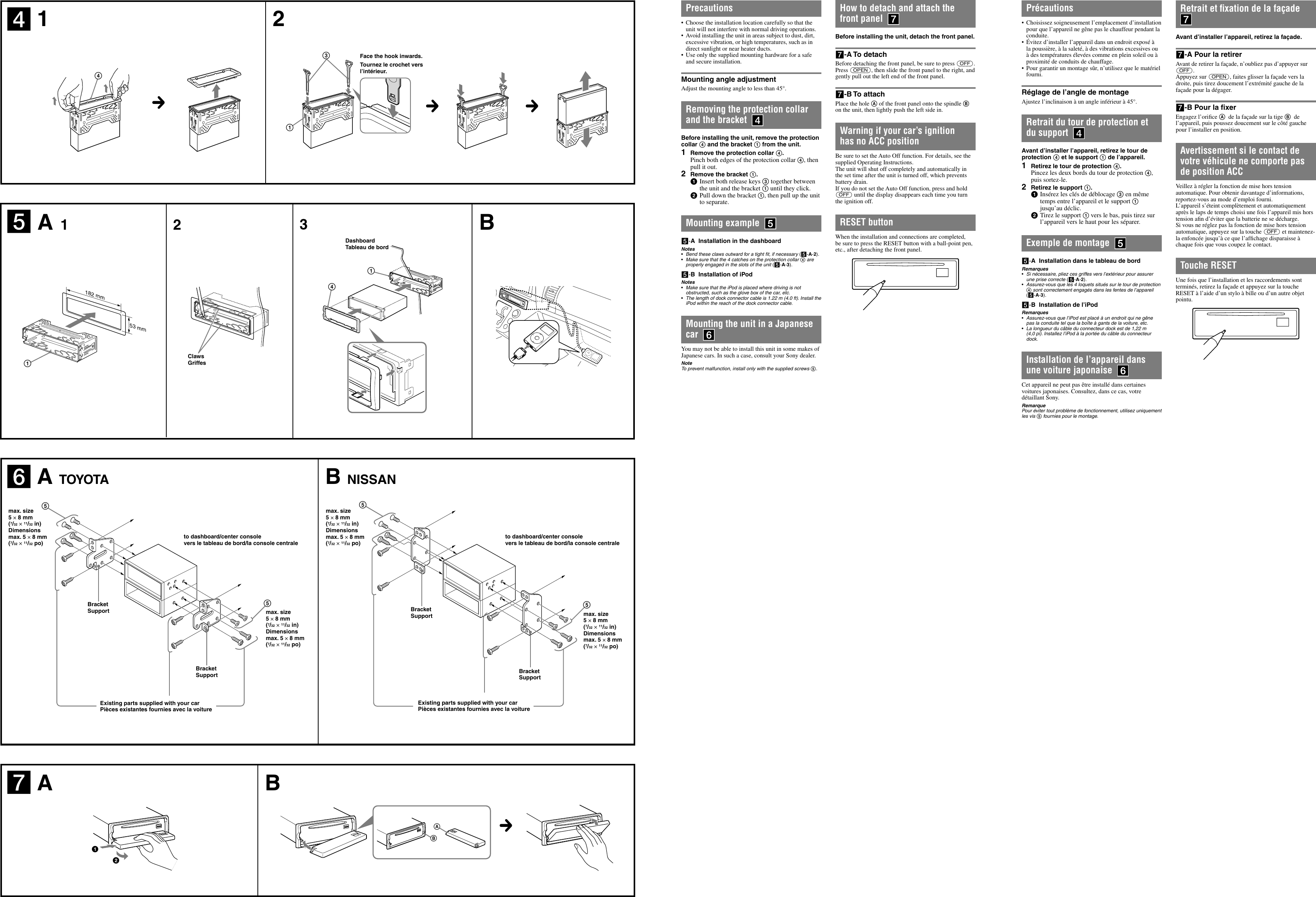 Sony Cdx Gt620ip Installation Connections Manual Gt62ipw Wiring Diagram Page 2 Of