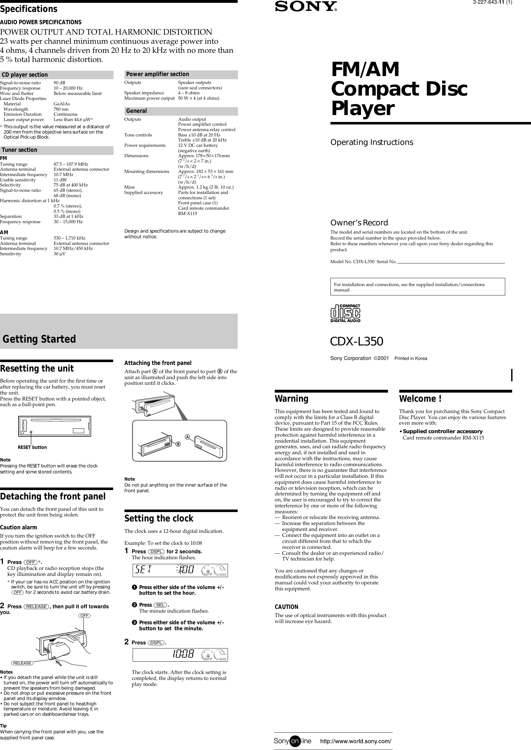 sony cdx l350 users manual sony cdx-l350 installation manual Sony Cdx L350 Wiring Diagram #8