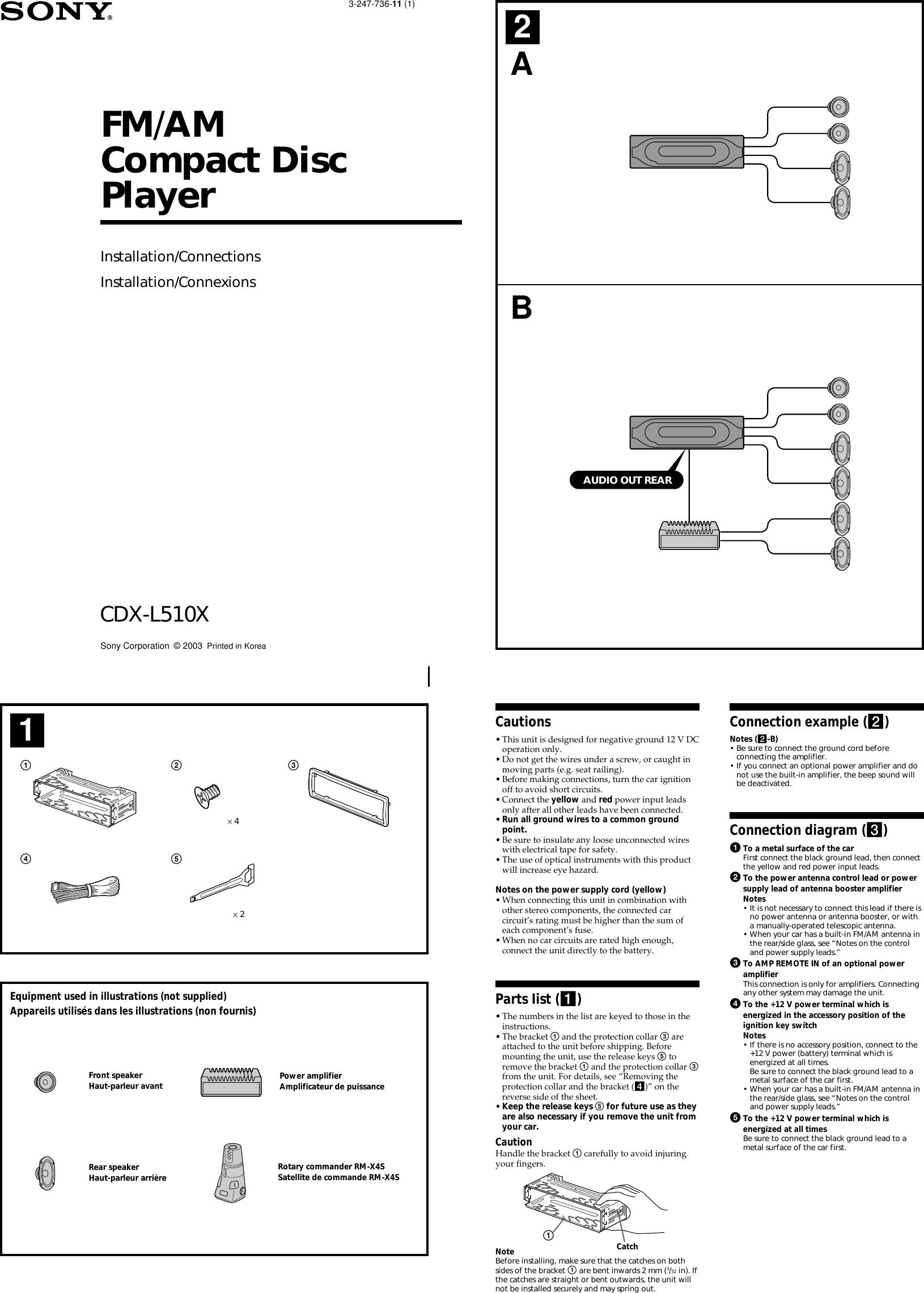 Sony Cdx L510x Wiring Diagram
