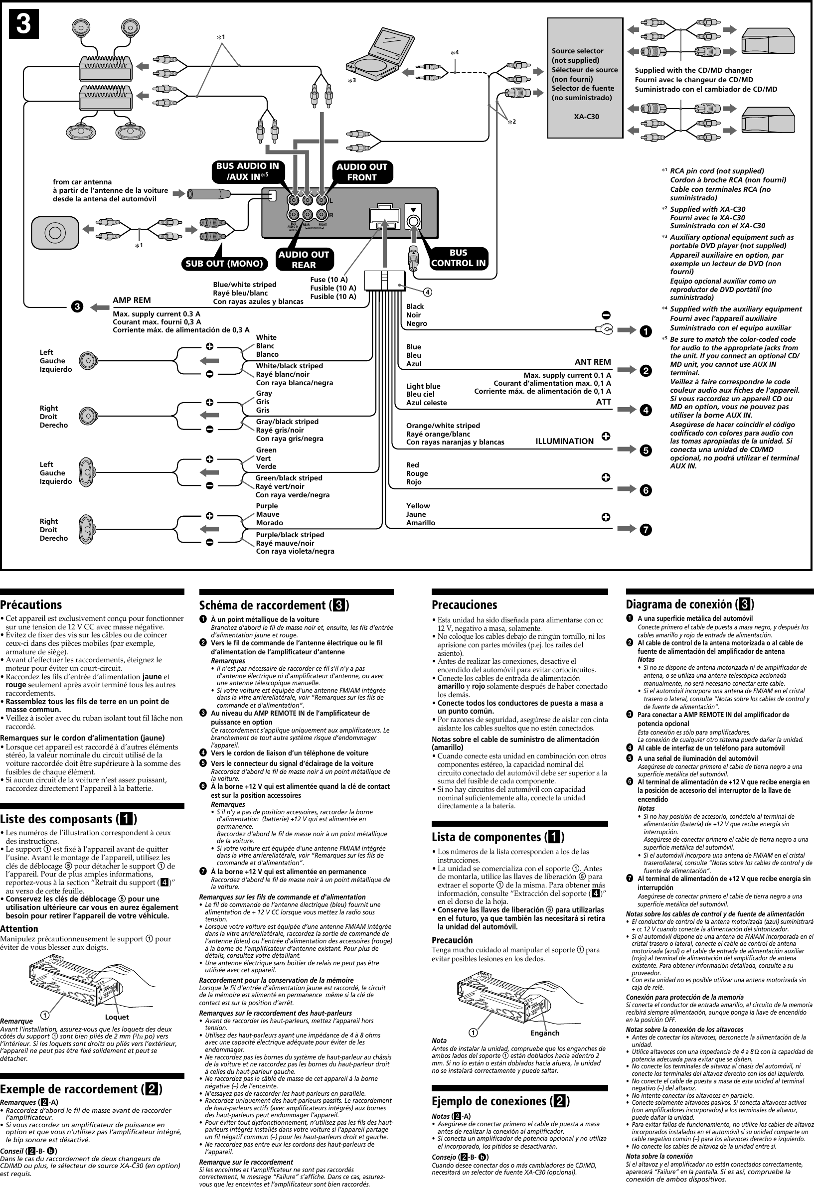 page 2 of 4 - sony sony-cdx-m800mp-installation-instructions-