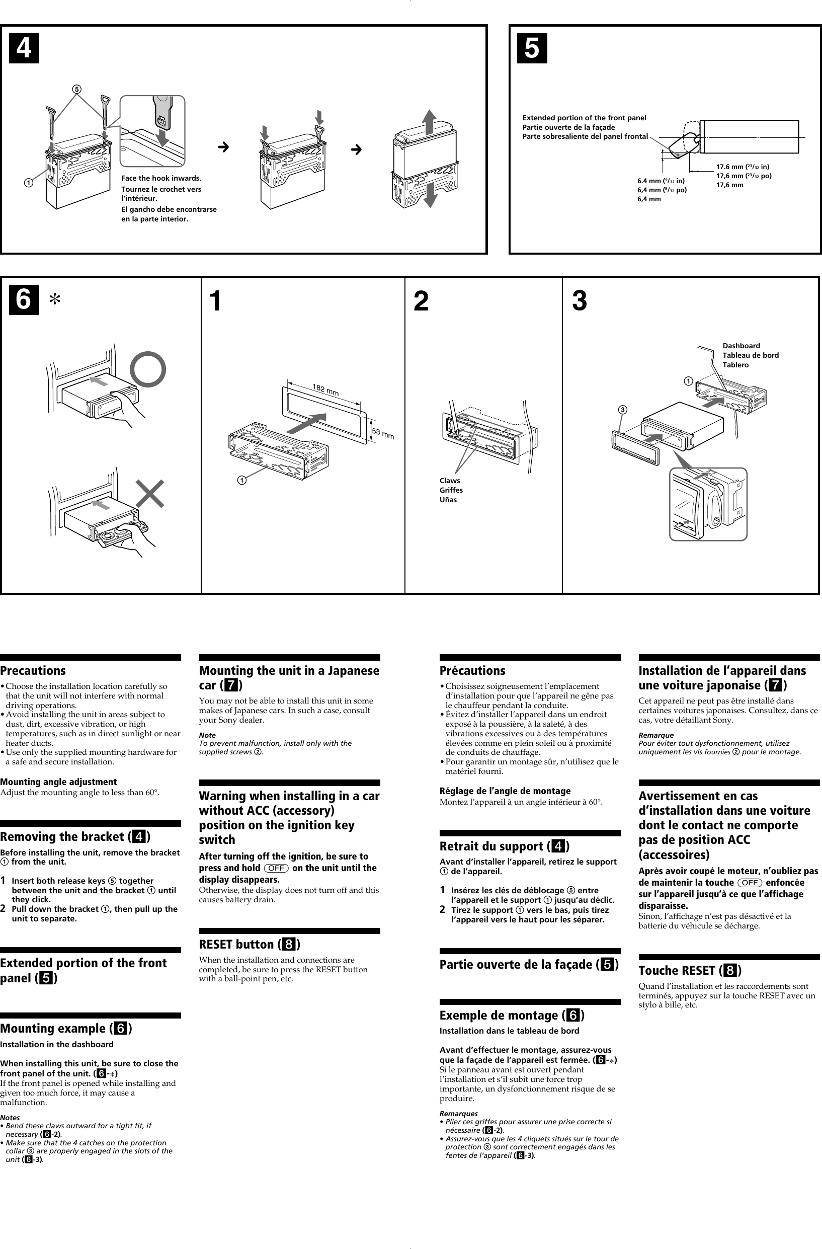 page 3 of 4 - sony sony-cdx-m800mp-installation-instructions-