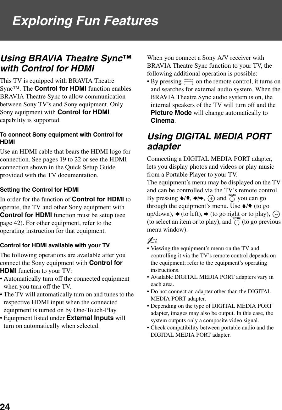 Sony Kdl 32N4000 Users Manual 32/37N4000