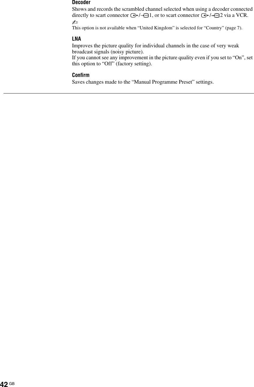 Sony Kdl 40X3000 Users Manual 70/52/46/40X3500 46/40X3000