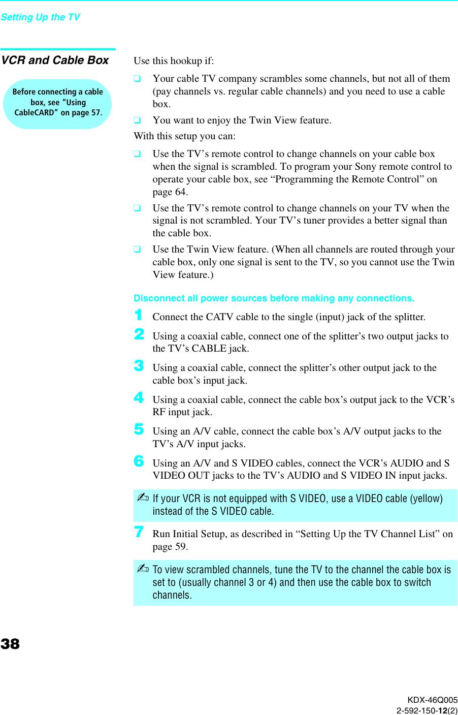 Sony Qualia Mbd Q005 Users Manual KDX 46Q005