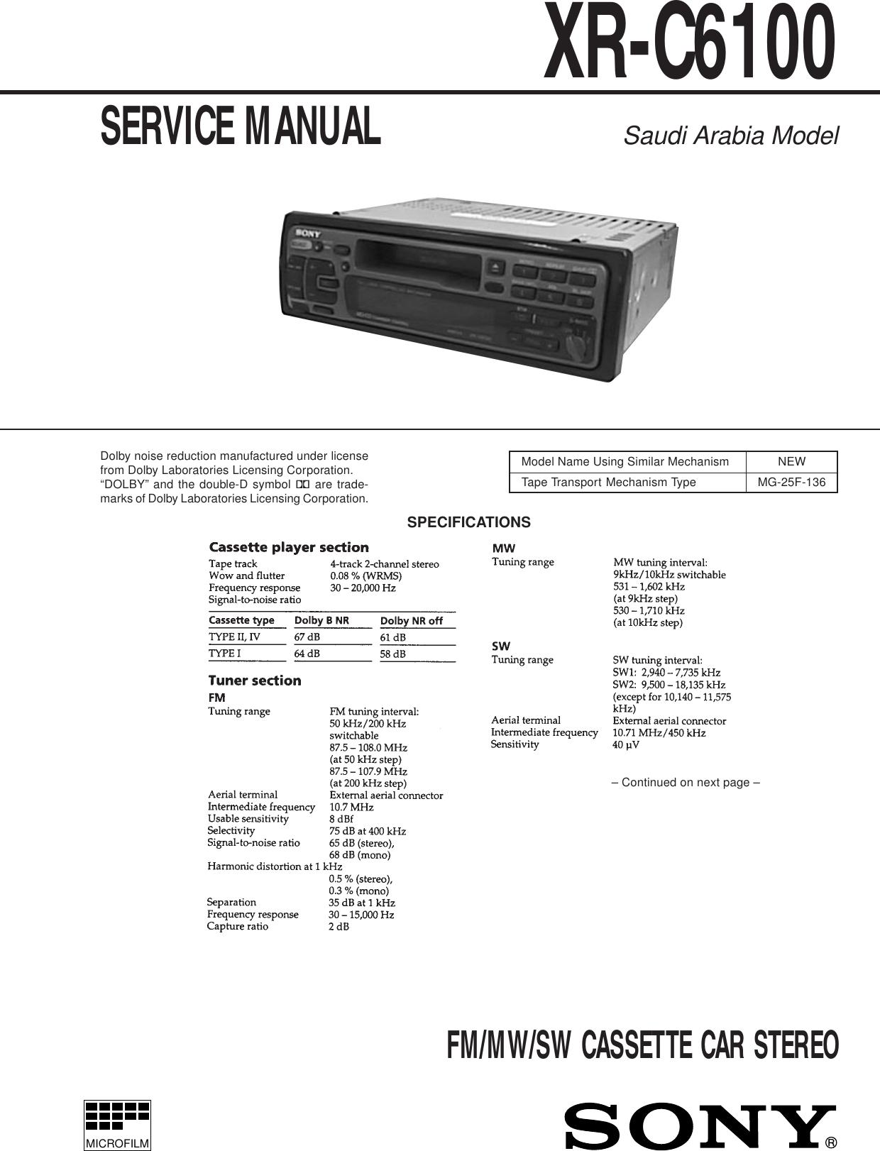 Sony Car Audio Manuals Dsx S300btx Wiring Diagram Array Stereo System Xr C6100 Users Manual Rh Usermanual Wiki