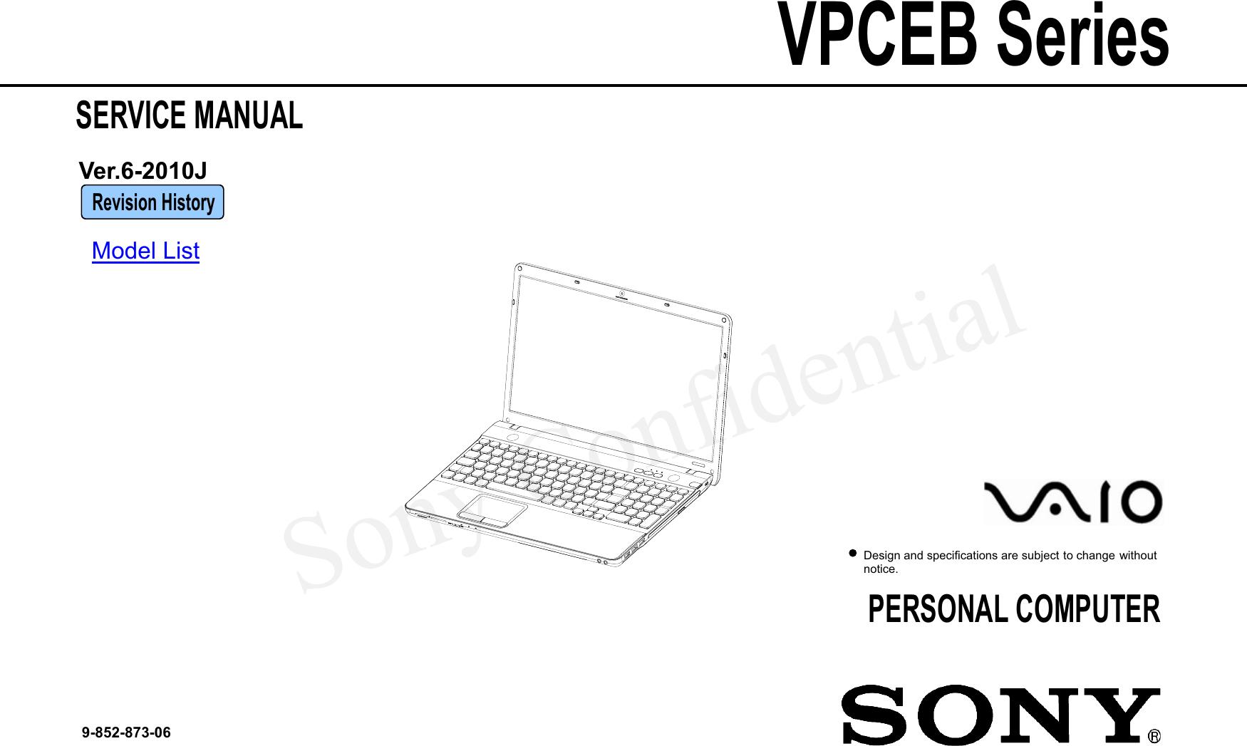 Sony Vpceb Users Manual M970 Service Manual20101012 Vaio Parts Diagram