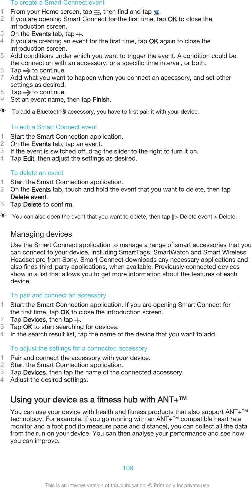 Sony Xperia T3 User Guide And Ation Manual