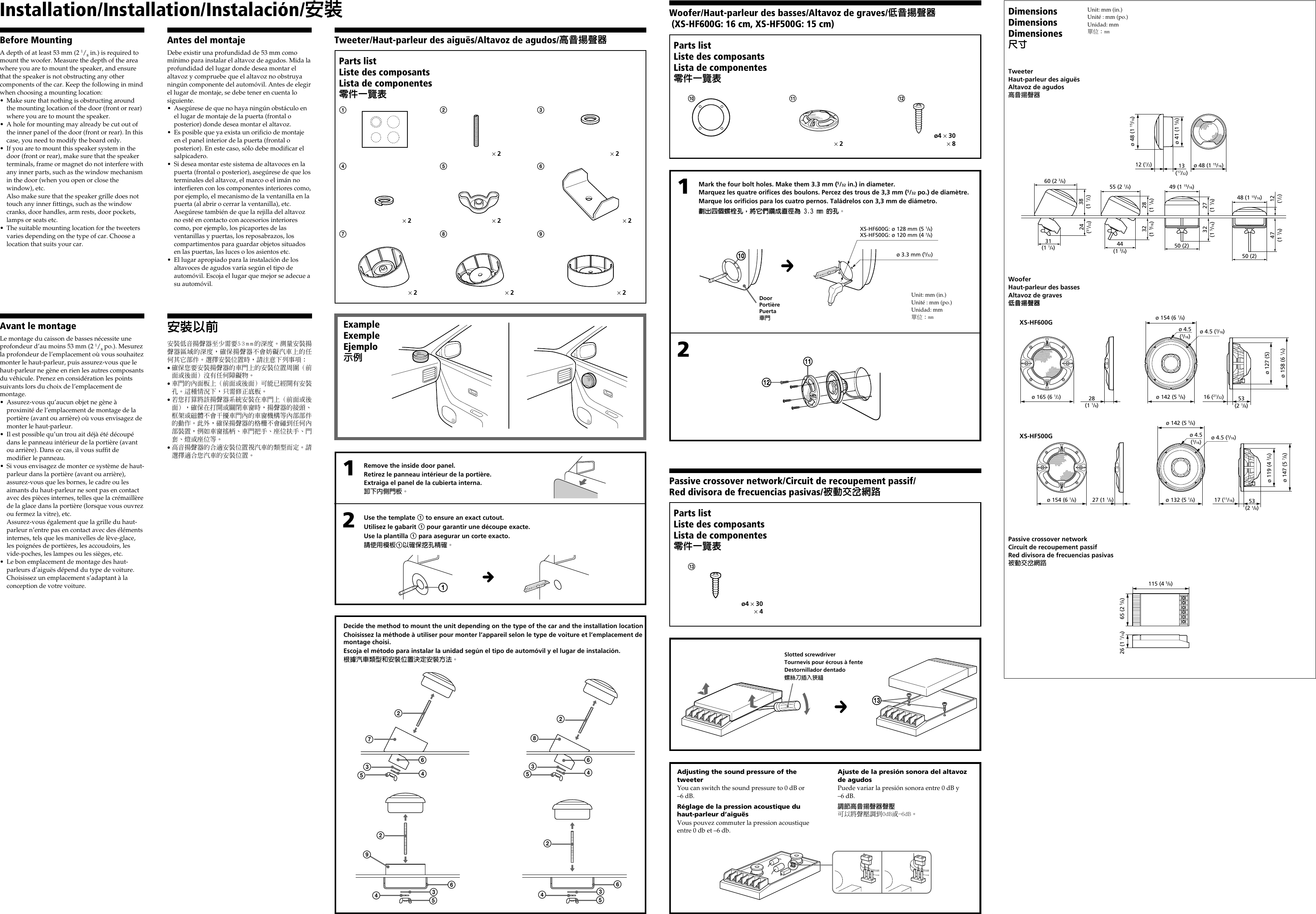 Sony Xplod Manual Xs Hf600g Users Hf500g Page 2 Of