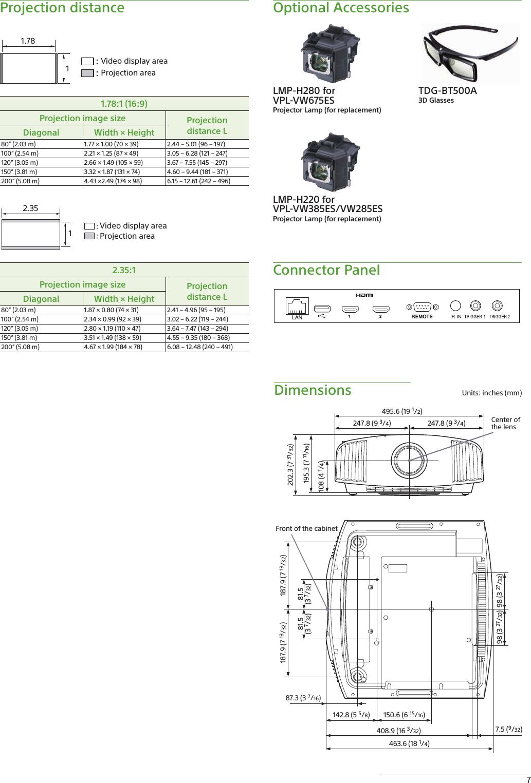 Sony VPL VW285ES User Manual VW675ES/VW385ES/VW285ES Home Theater