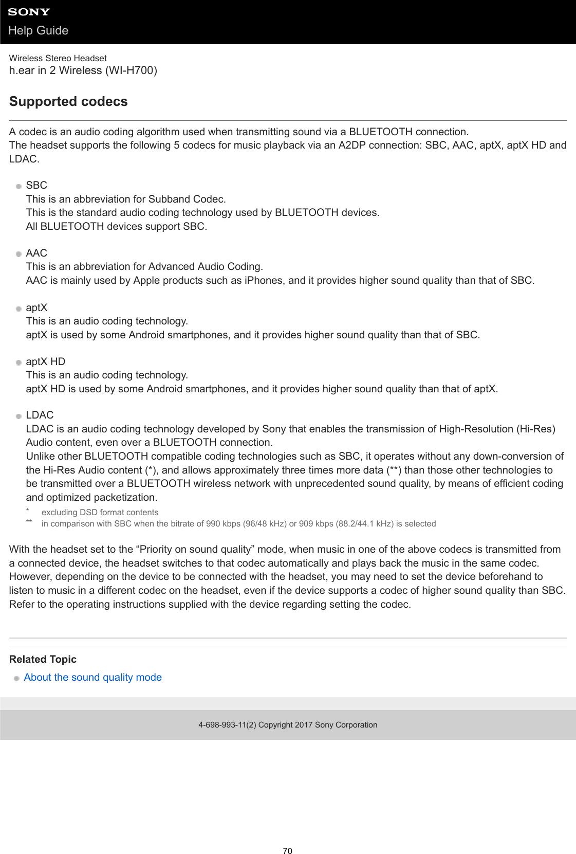 Sony WI H700 User Manual Help Guide (Printable PDF) 4698993112