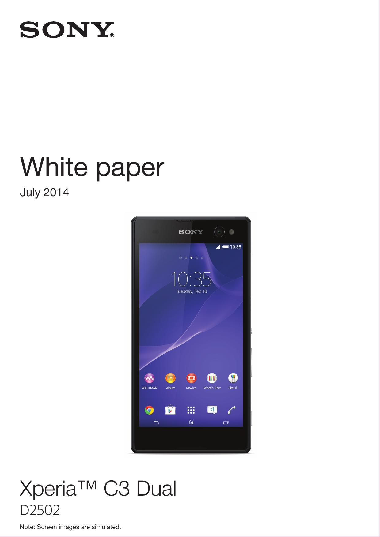 Whitepaper EN D2502 Xperia C3 Dual