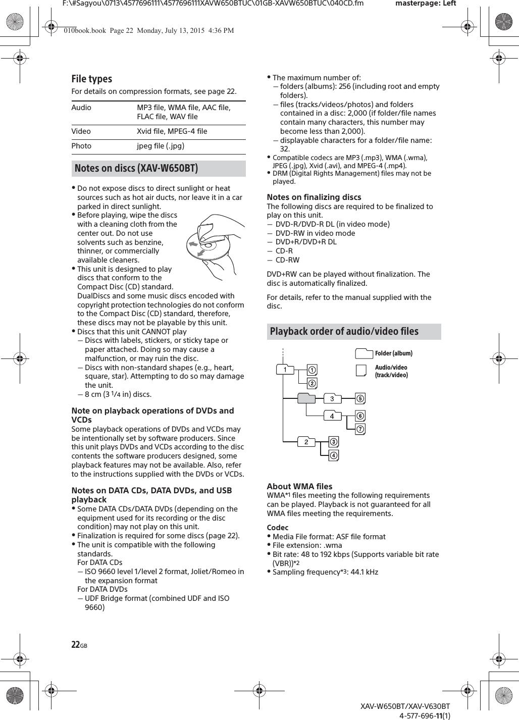 Sony Xav Fm Digital Manual Guide