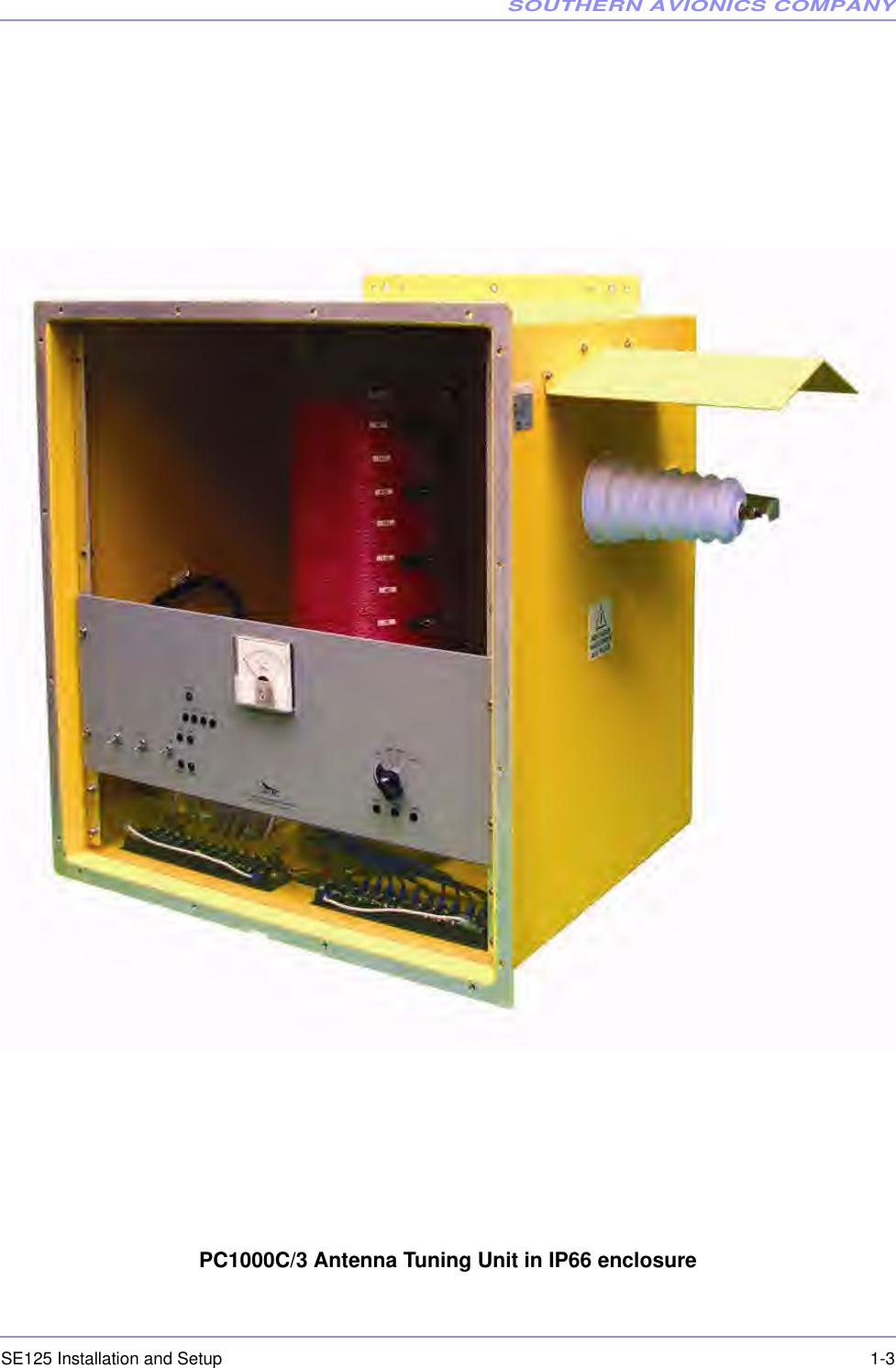 Southern Avionics Se125 Non Directional Radio Beacon User Manual Se Antenna Tuning Unit Companyse125 Installation And Setup 1 3pc1000c 3 In Ip66