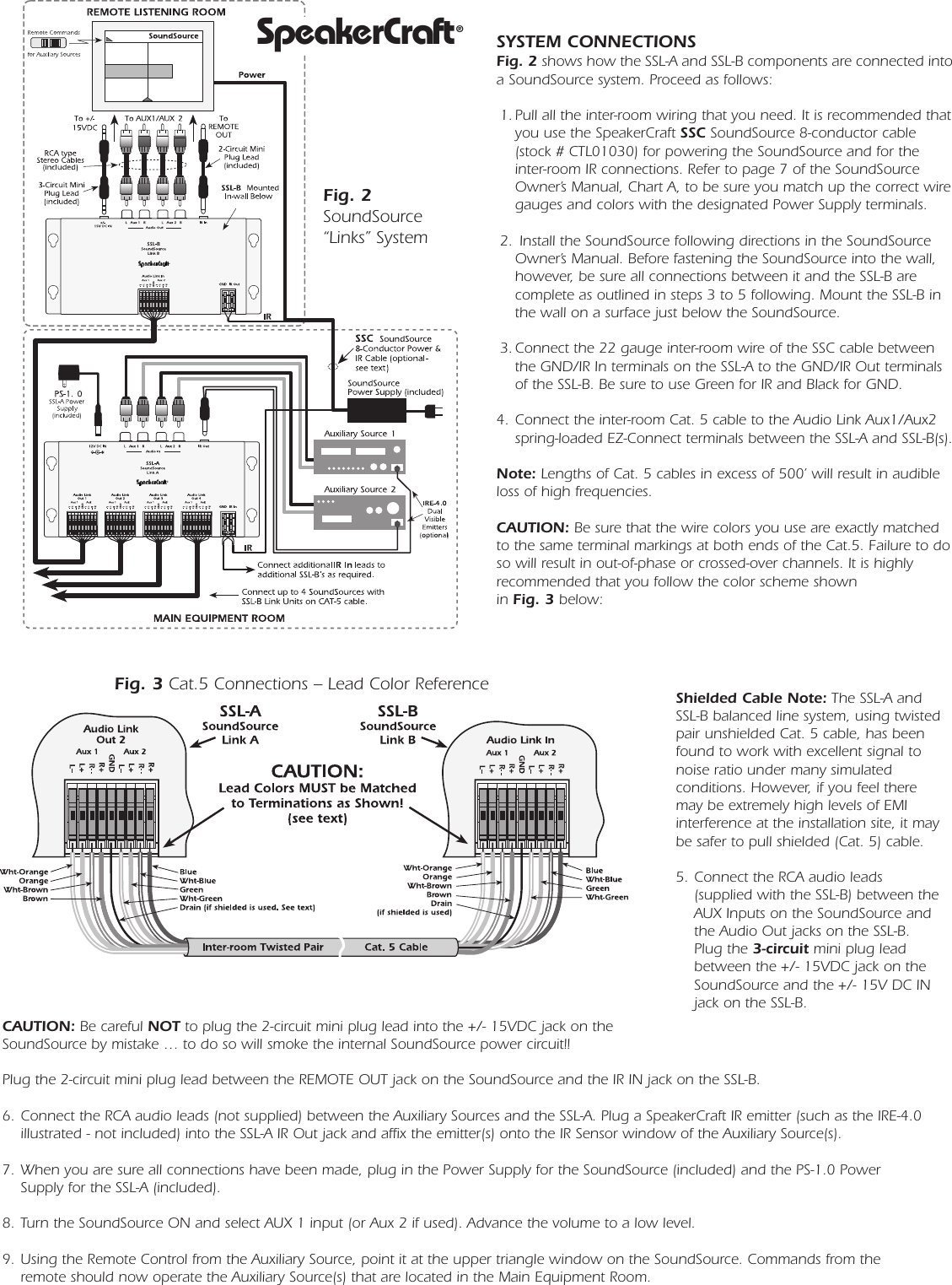 Speakercraft Ssl A Users Manual Ilc 10 Wiring Diagram Page 2 Of