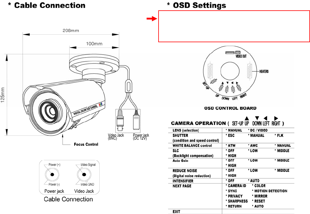Speco Technologies Ht Intb8 9 10 Users Manual Manual1   Speco Camera Wiring Diagram      UserManual.wiki