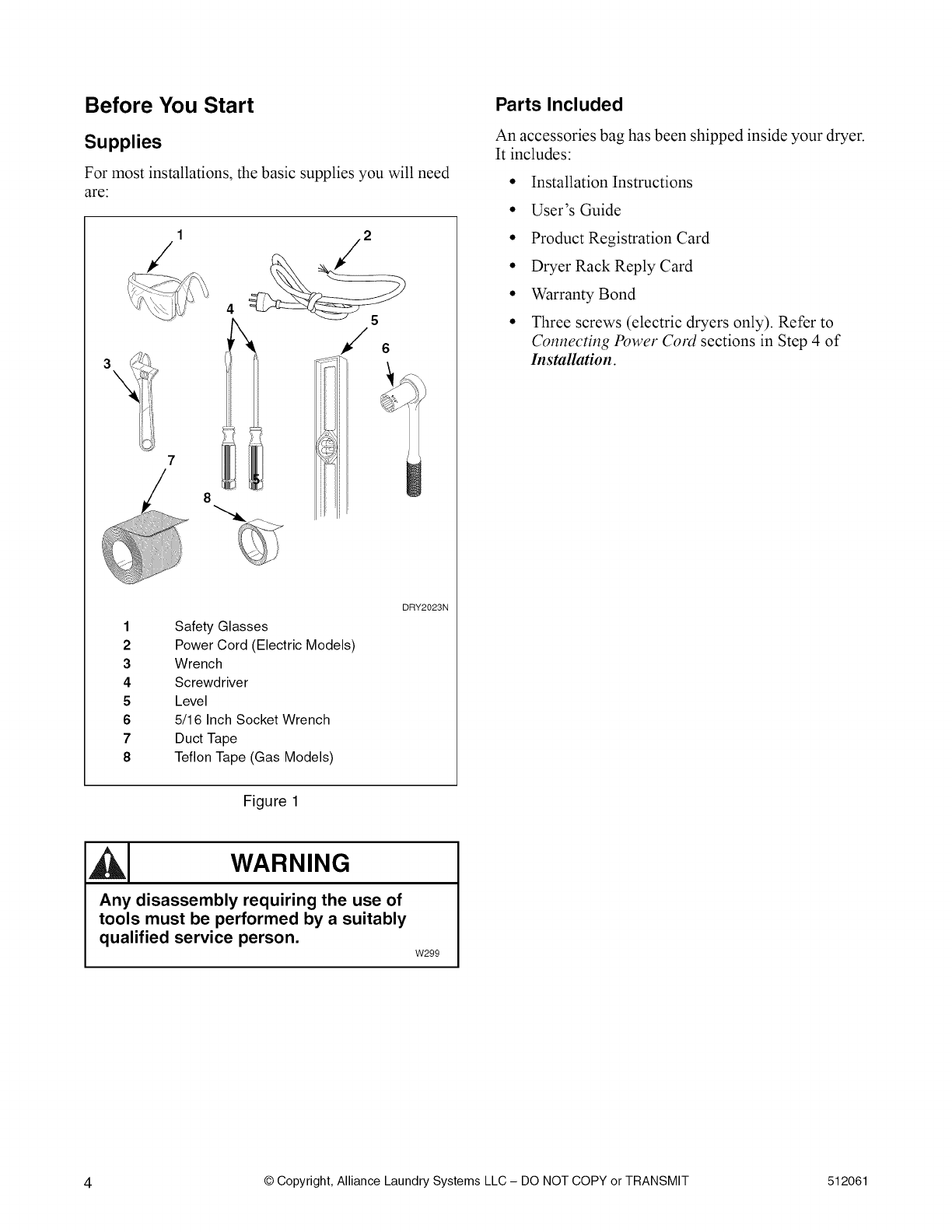 Speed Queen Aes20awf User Manual Dryers Manuals And Guides L0902475 Washer Wiring Diagram