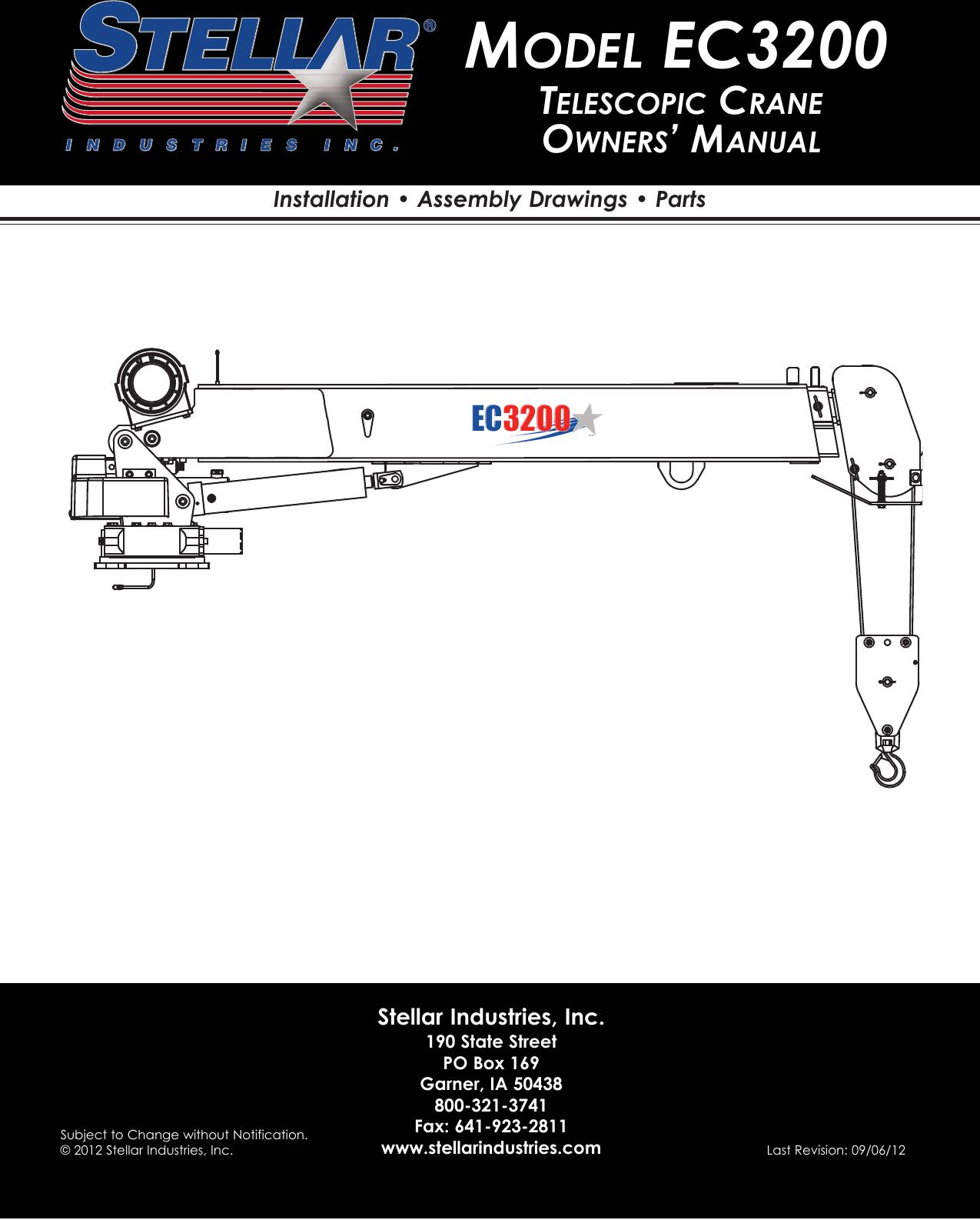 Stellar Industries Crane Ec3200 Users Manual Telescopic Industrial Latching Relay Wiring Diagram