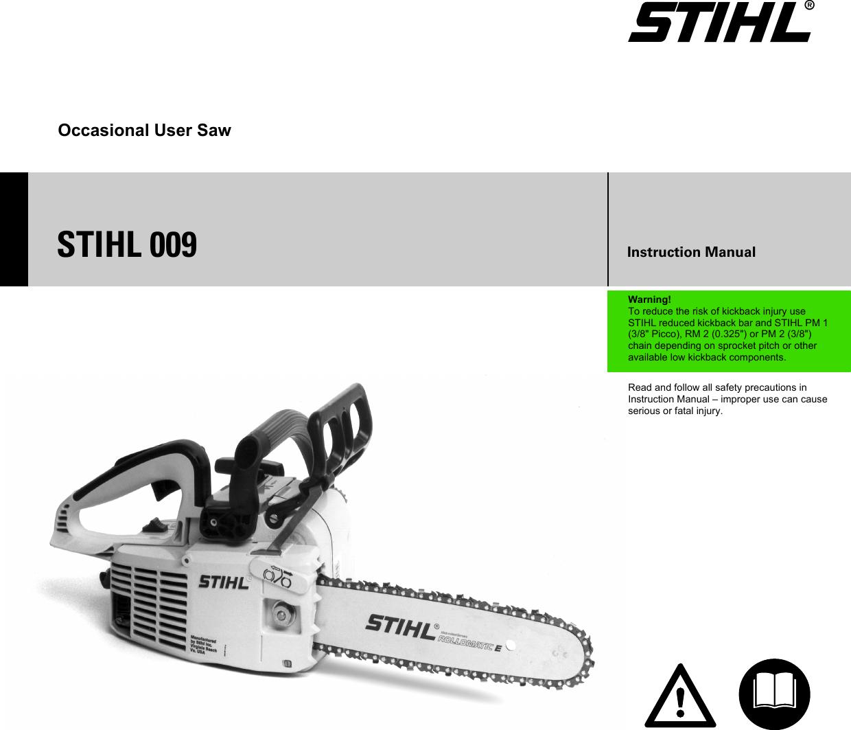 Stihl 009 Manual Gebrauchsanleitung Chainsaw Engine Diagram