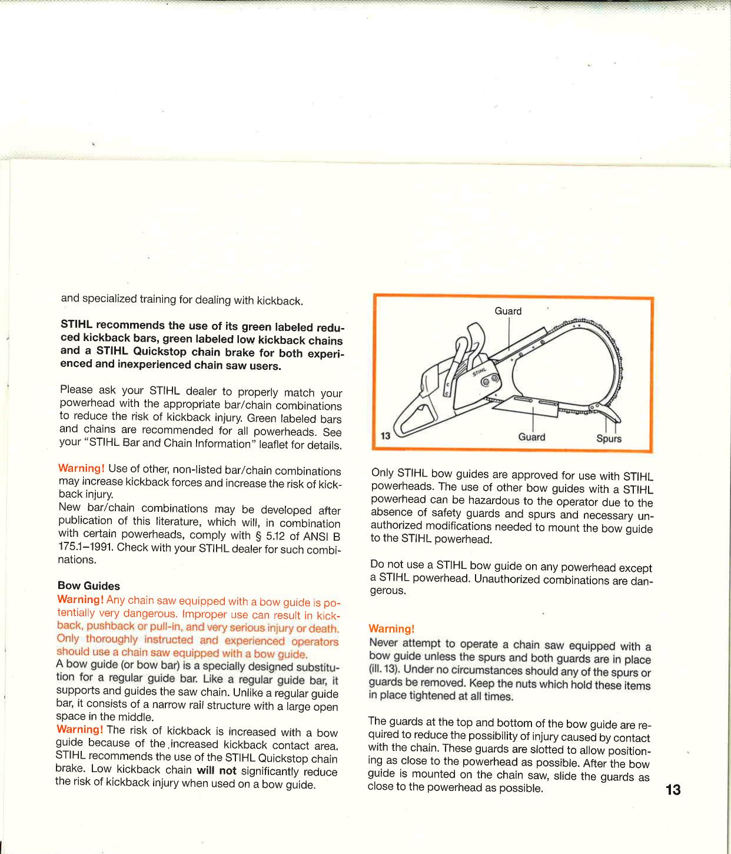 Stihl 08S Manual 08 S Chain Saw Professional |
