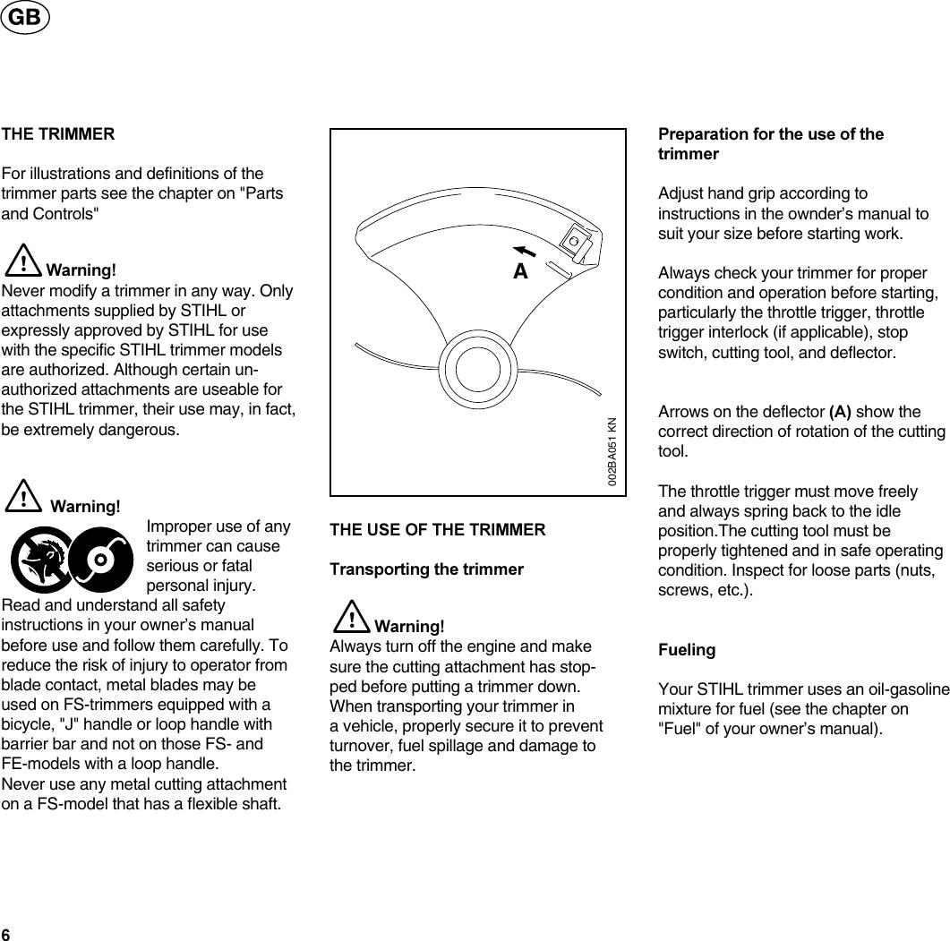 Stihl Fs36 Manual FS 36, 40