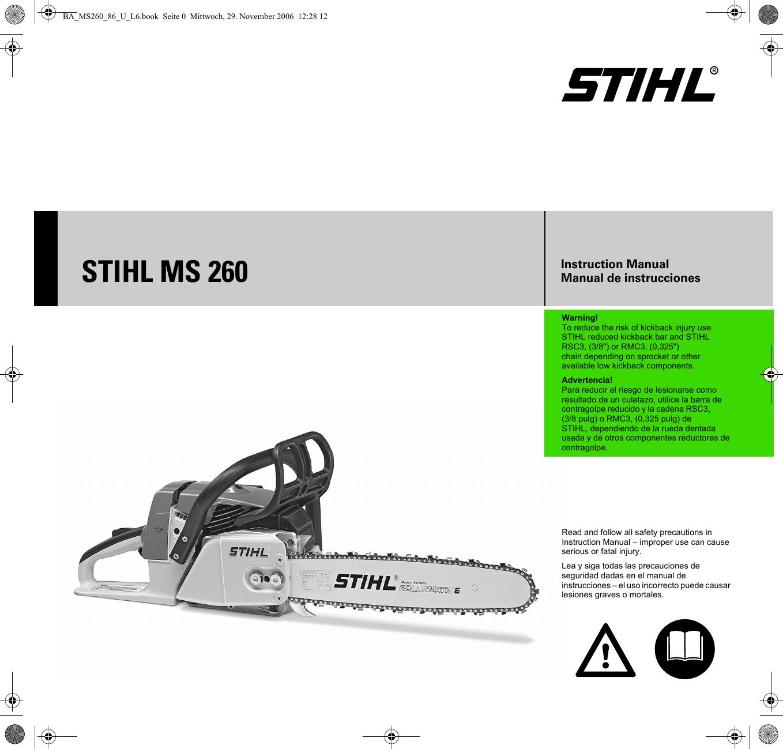 Stihl Ms260 Manual