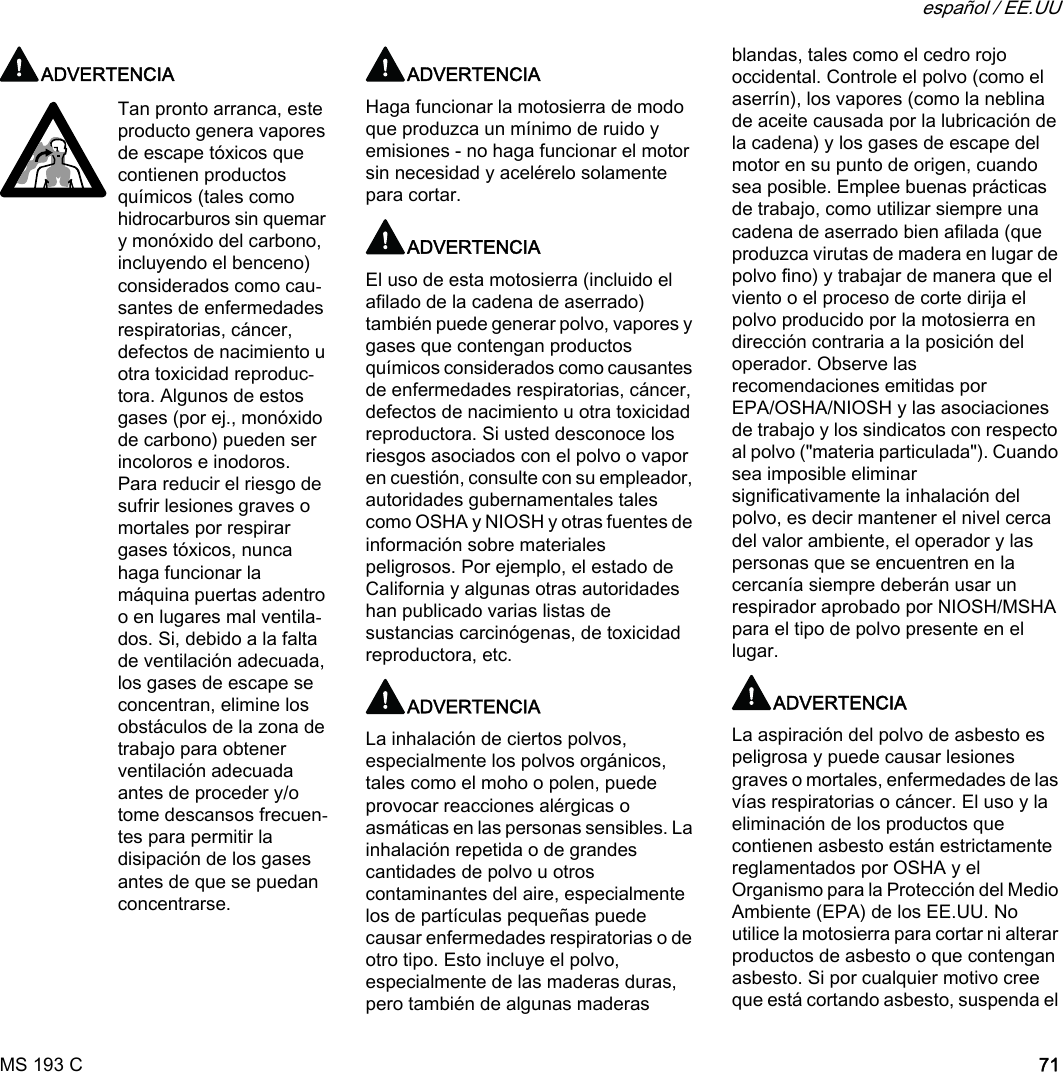 Stihl C Instruction Ms Manual 193 Owners E pzSVGqUM