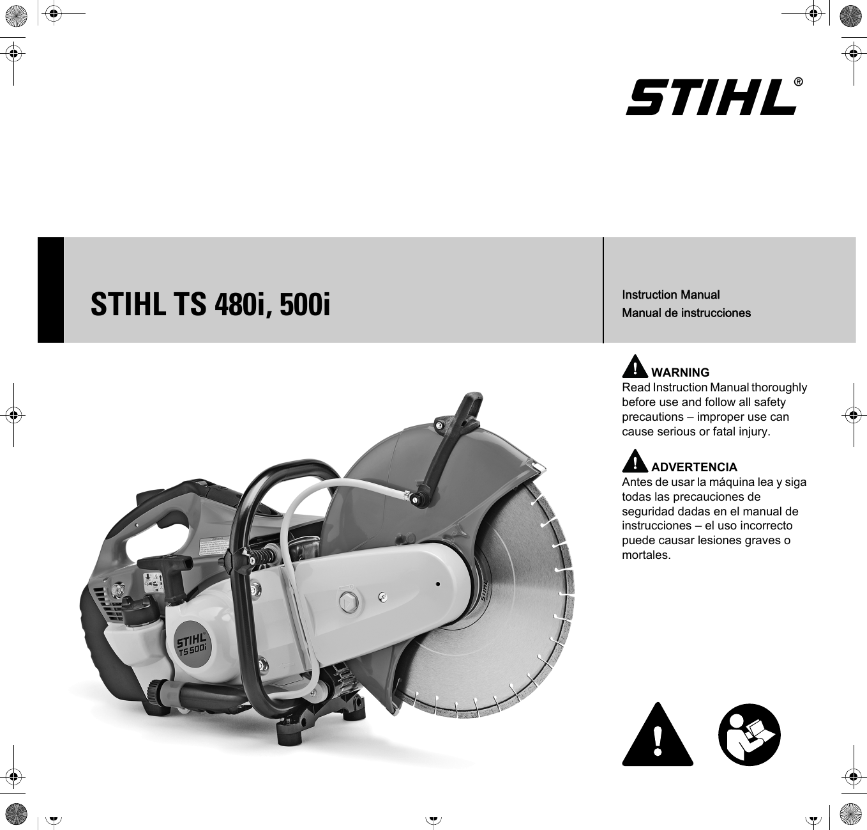 Stihl Ts 500I Cutquik Instruction Manual 480i,
