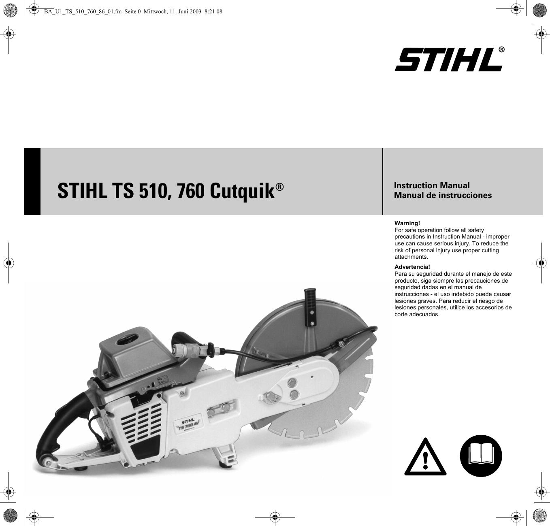 Stihl Ts510 760 Manual TS 510,