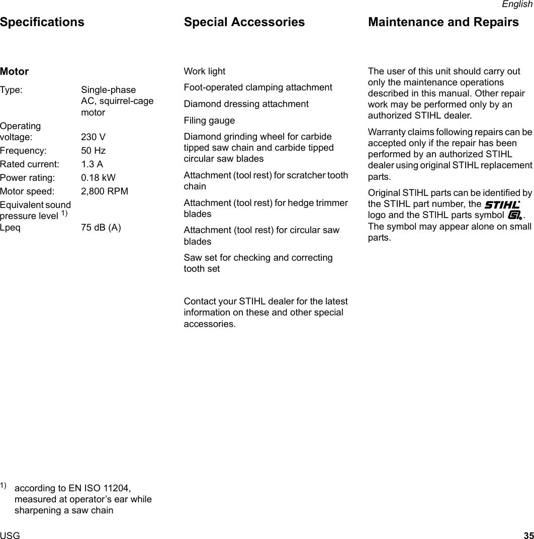 Stihl Usg Manual BA_SE_025_002_01_06