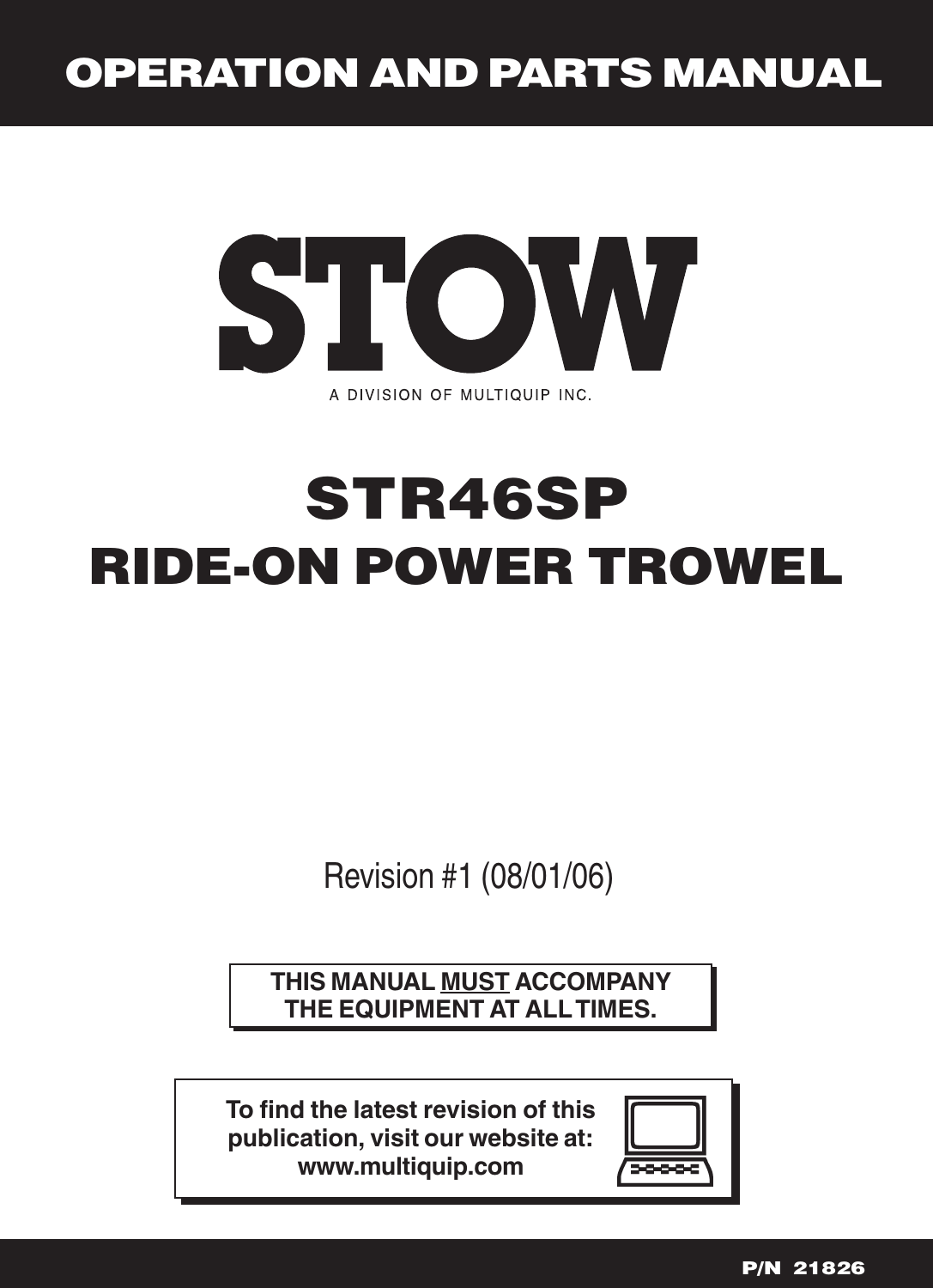 Stow Lawn Mower Str46Sp Users Manual Rev 0.pmd