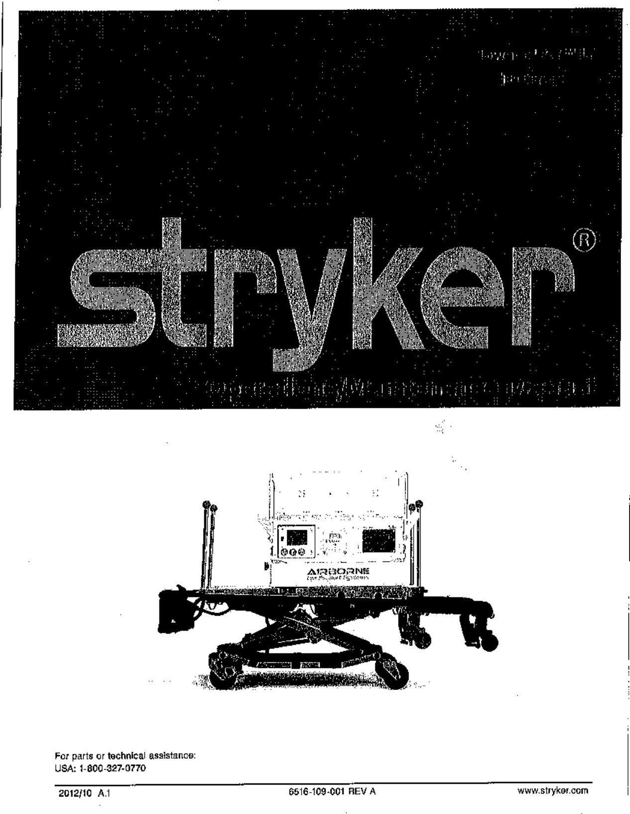 Stryker Medical 6516 Power-PRO IT User Manual 1