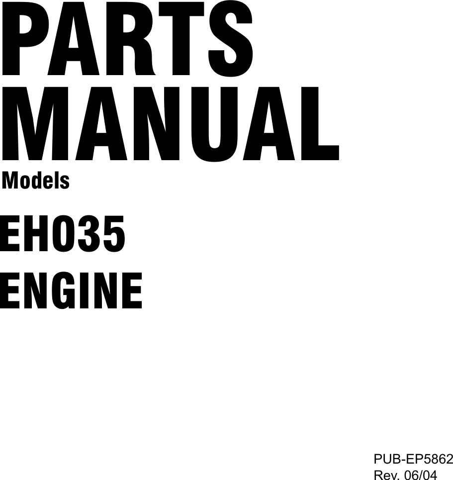 Subaru Robin Power Products Eh035 Users Manual Parts For Scooters Engine Diagram