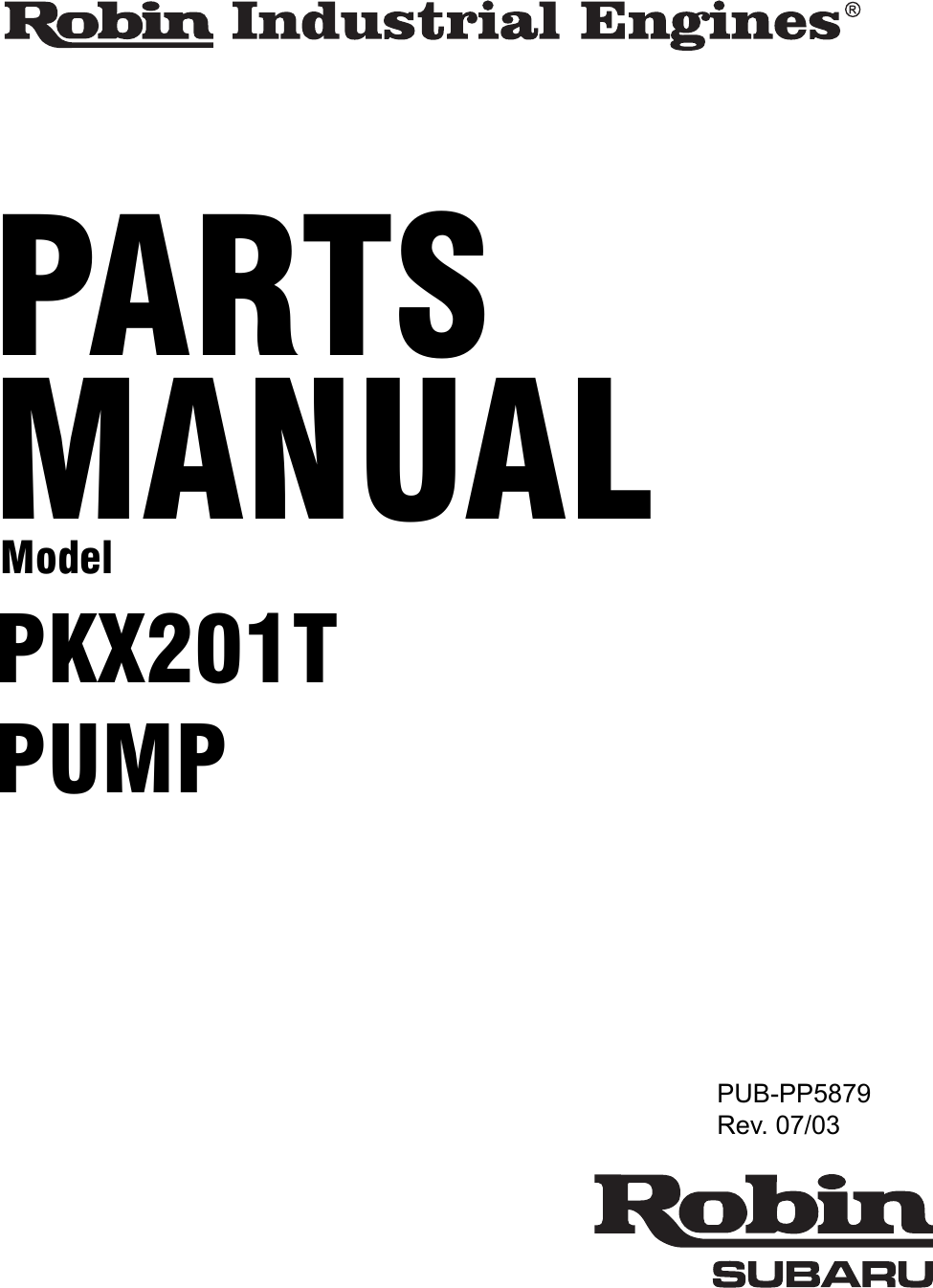 Subaru Robin Power Products Pkx201t Users Manual Parts Engine Diagram