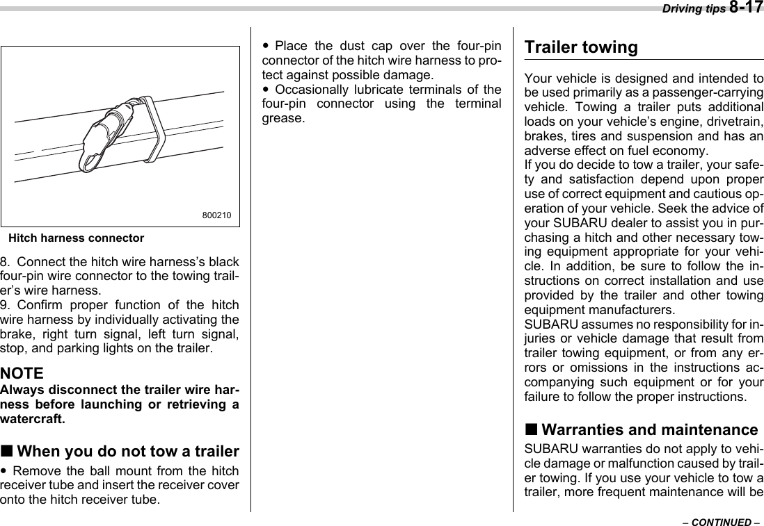 Subaru 2006 B9 Tribeca Owners Manual