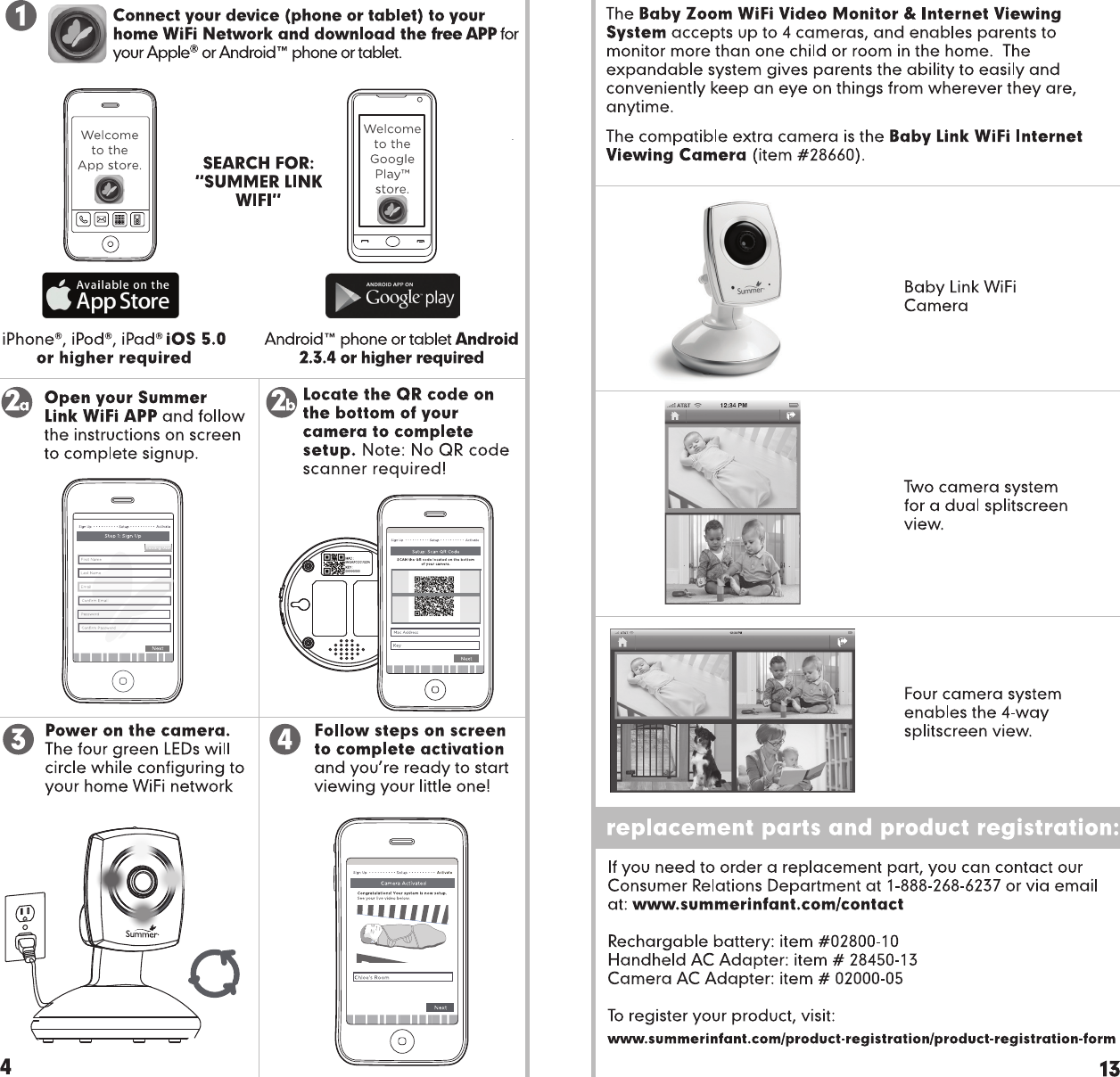 Summer infant 863r baby monitor user manual 28630 baby zoom wi fi page 4 of summer infant 863r baby monitor user manual 28630 baby zoom wi fi monitor sciox Images